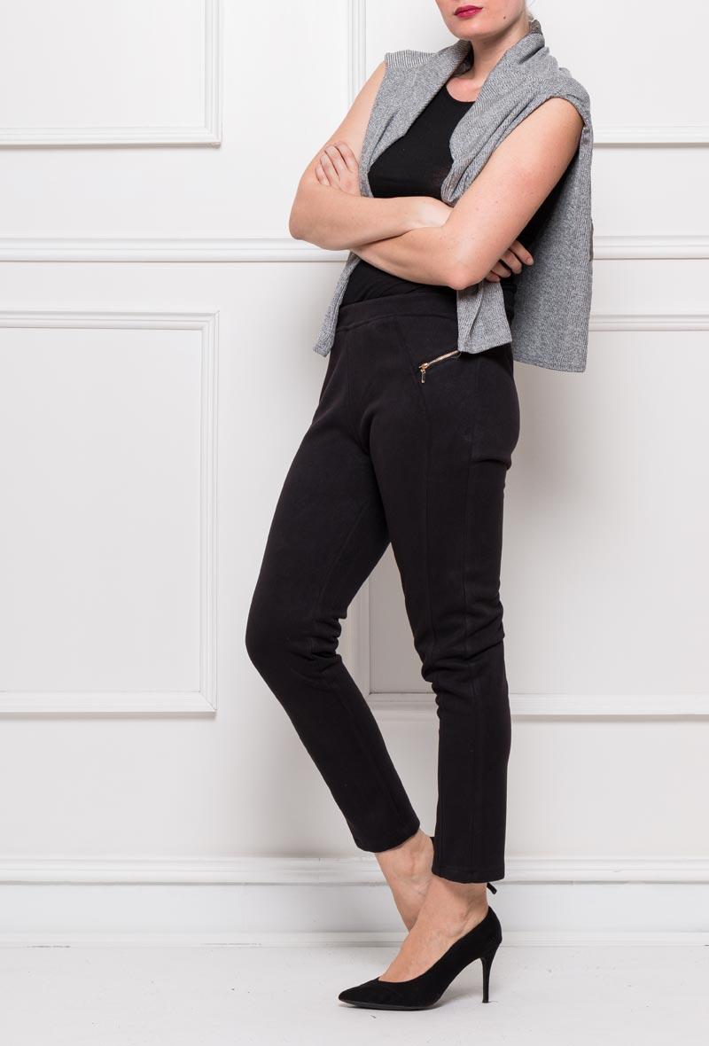 pantalon effet daim grande taille femme veti style 1506C noir 42 au 56