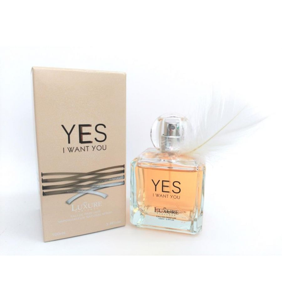 eau de parfum yes i want you de luxure parfums 100 ml pour femme