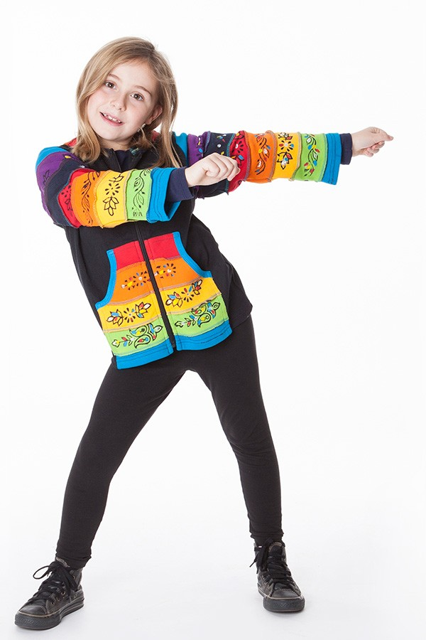 Sweat multicolore ethnique fille aller simplement kidsw205  3 au 10 ans