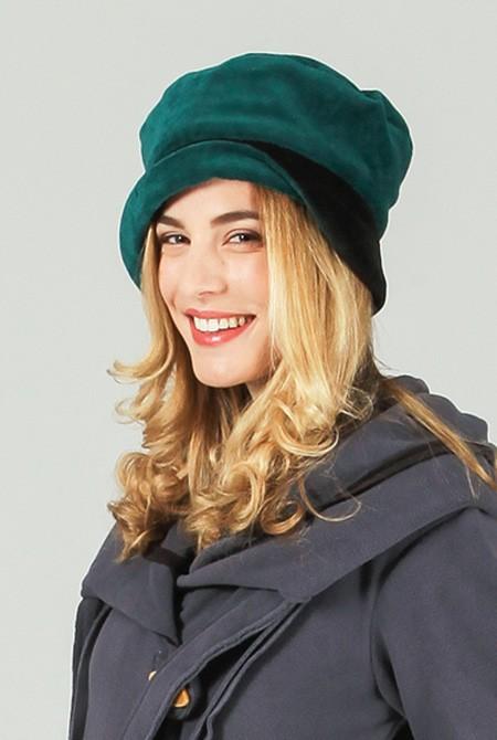bonnet coton adulte femme vert aller simplement