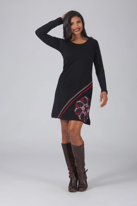Robe aller simplement manches longues ro412