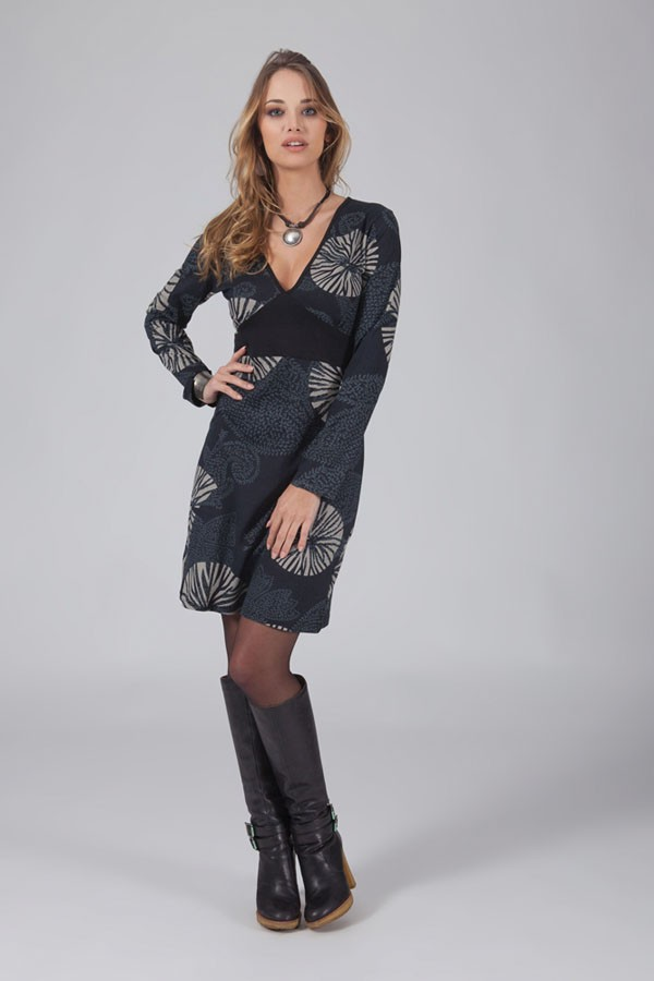 Robe aller simplement manches longues ro6047