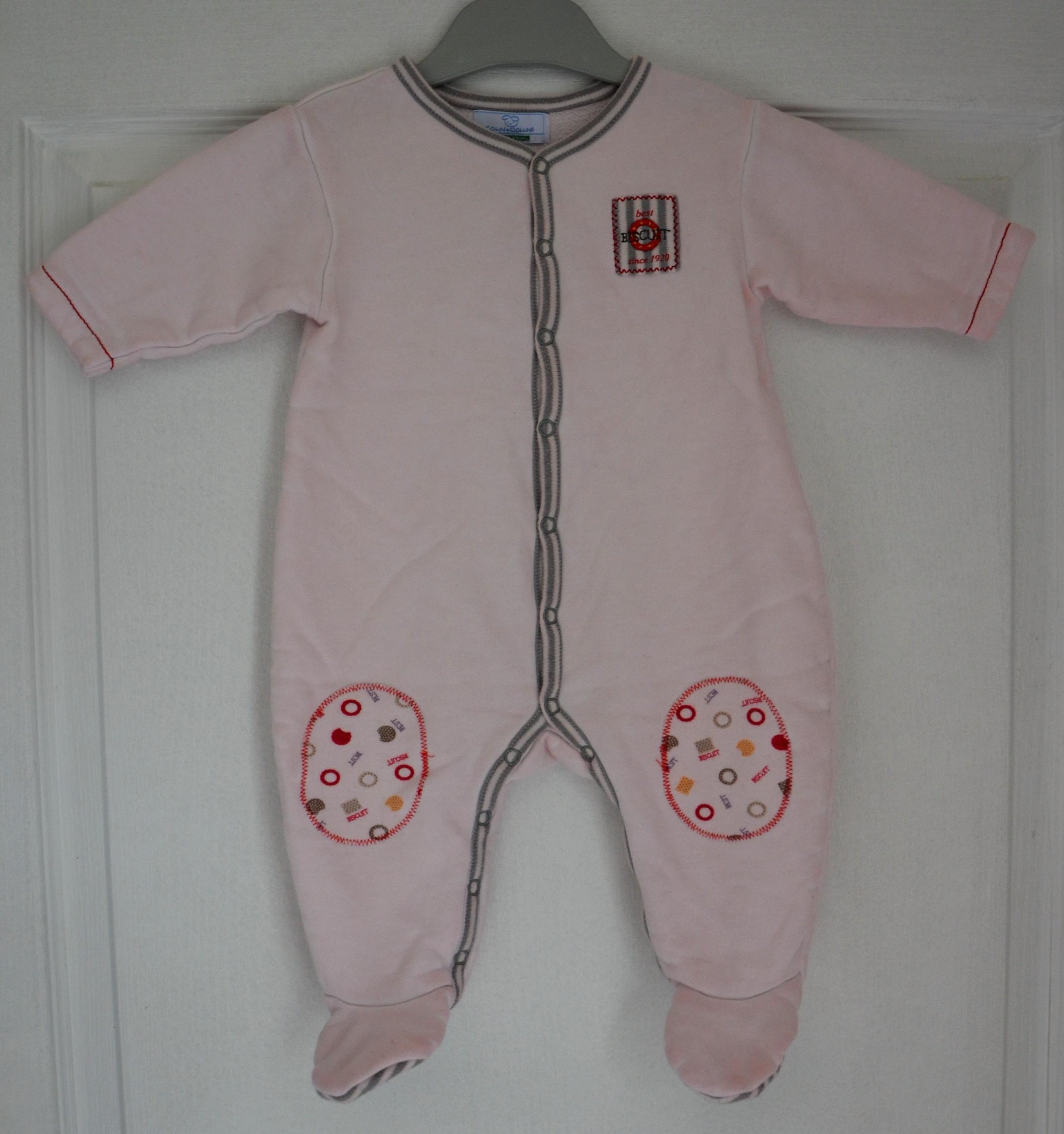pyjama fille colin coline vert baudet rose
