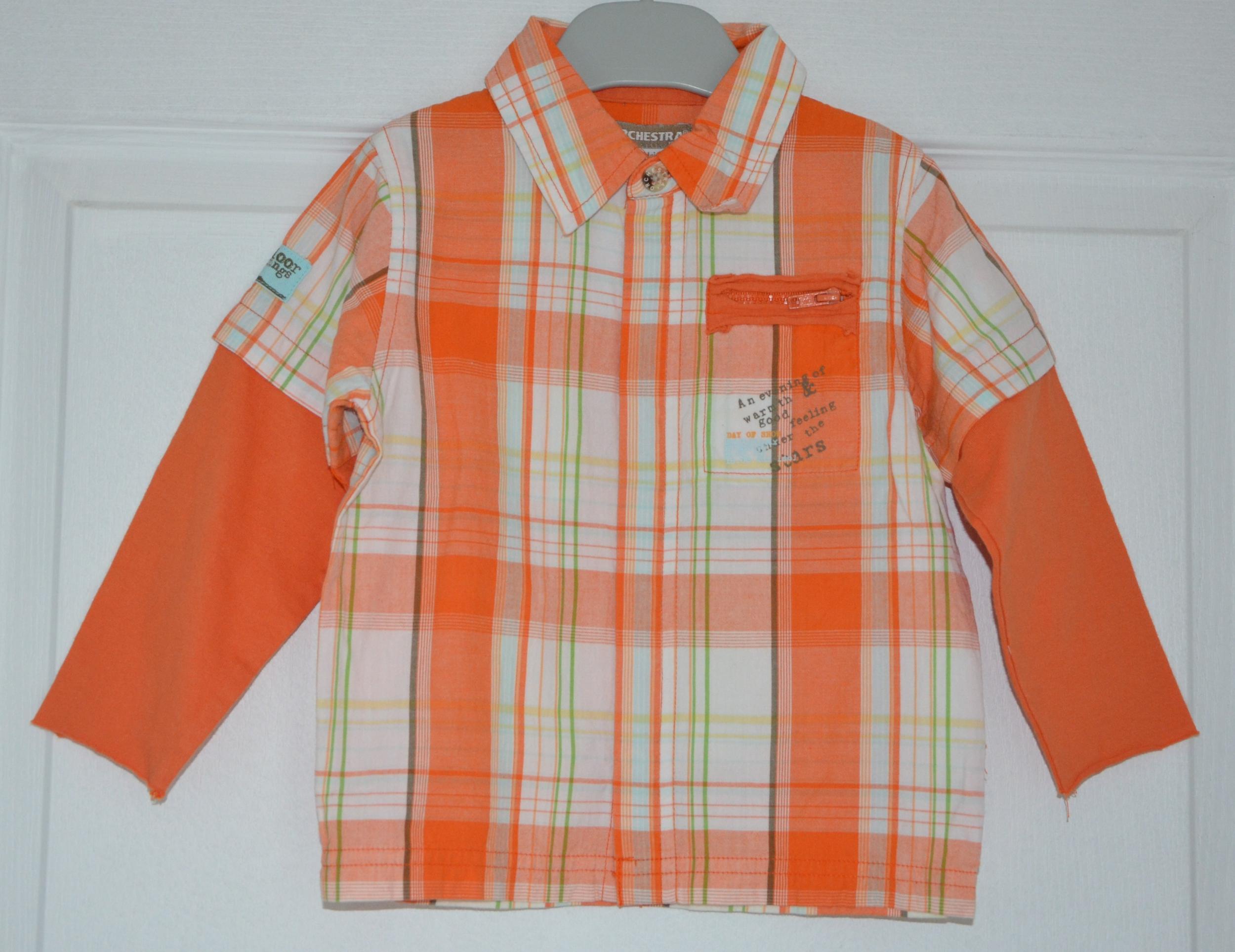 chemise gars 18 mois orchestra à carreaux