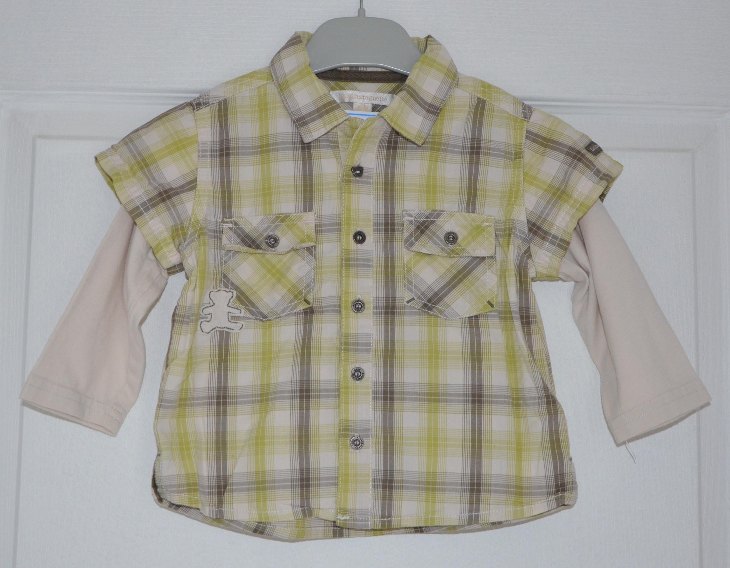chemise gars 18 mois lulu castagnette a carreaux