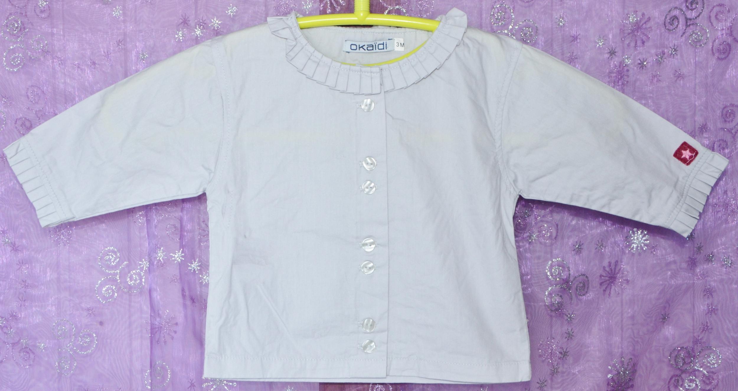 chemise okaidi 3 mois blanc