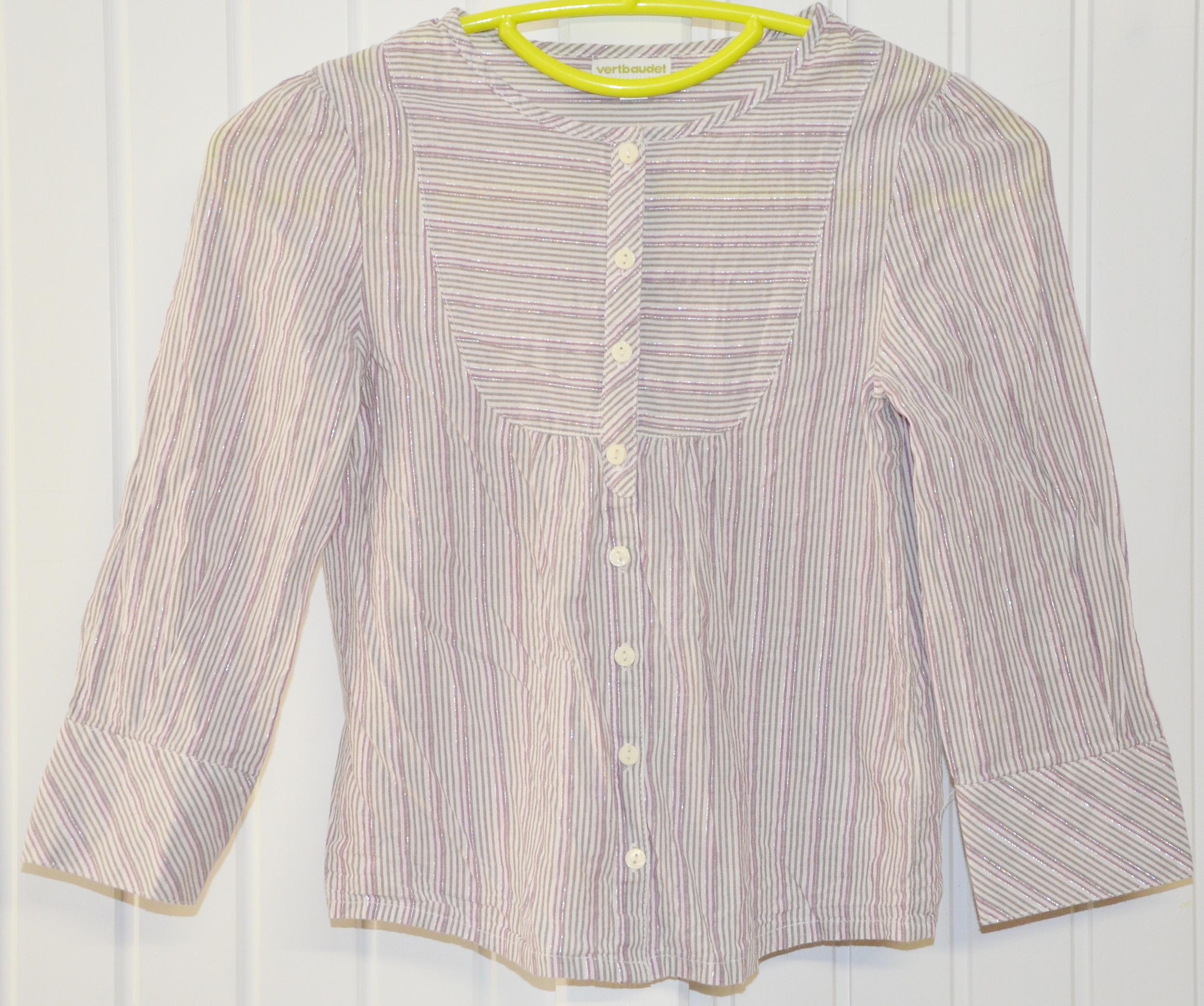 chemise vert baudet 8 ans