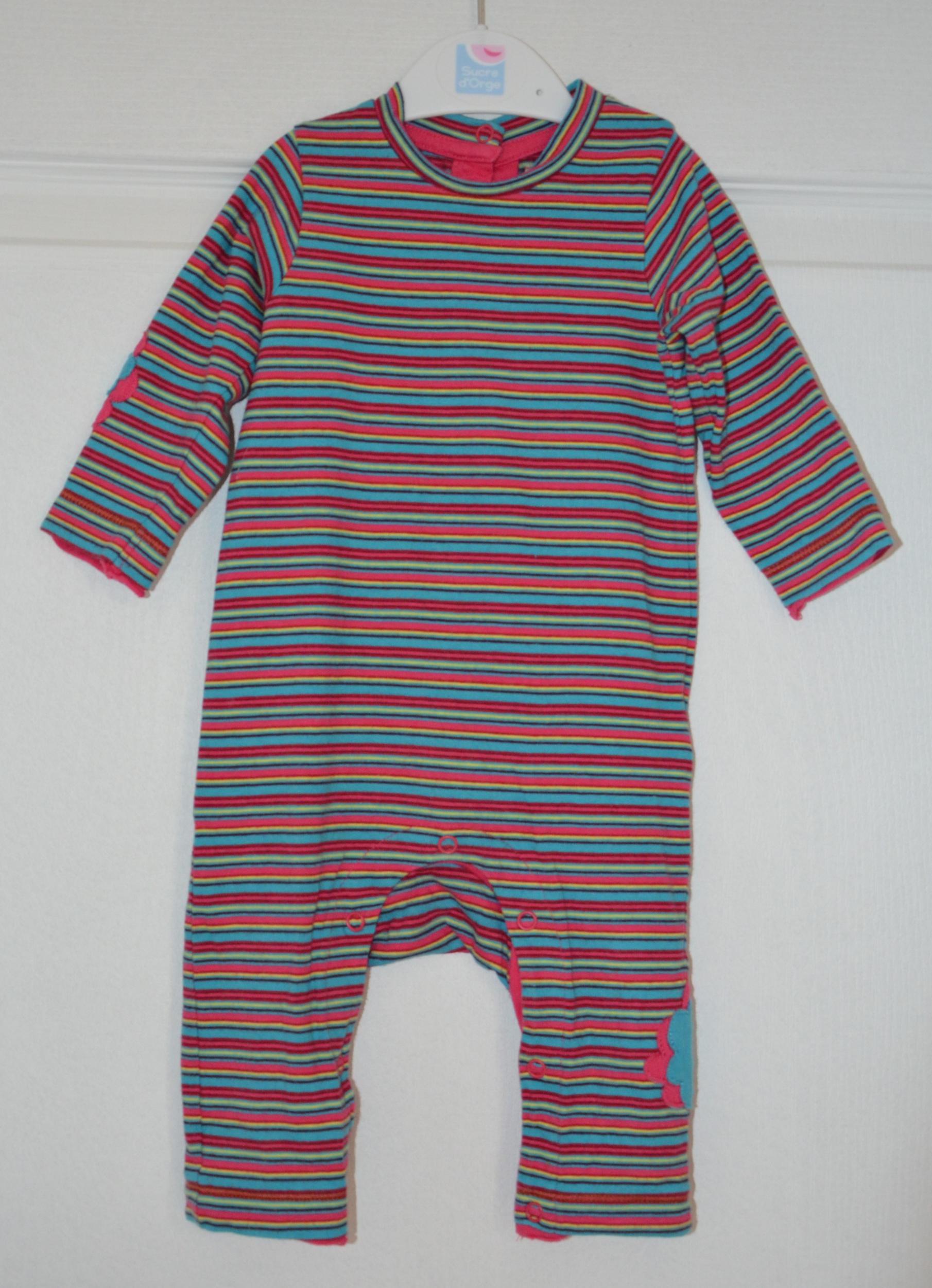 pyjama fille 6 mois orchestra rayé