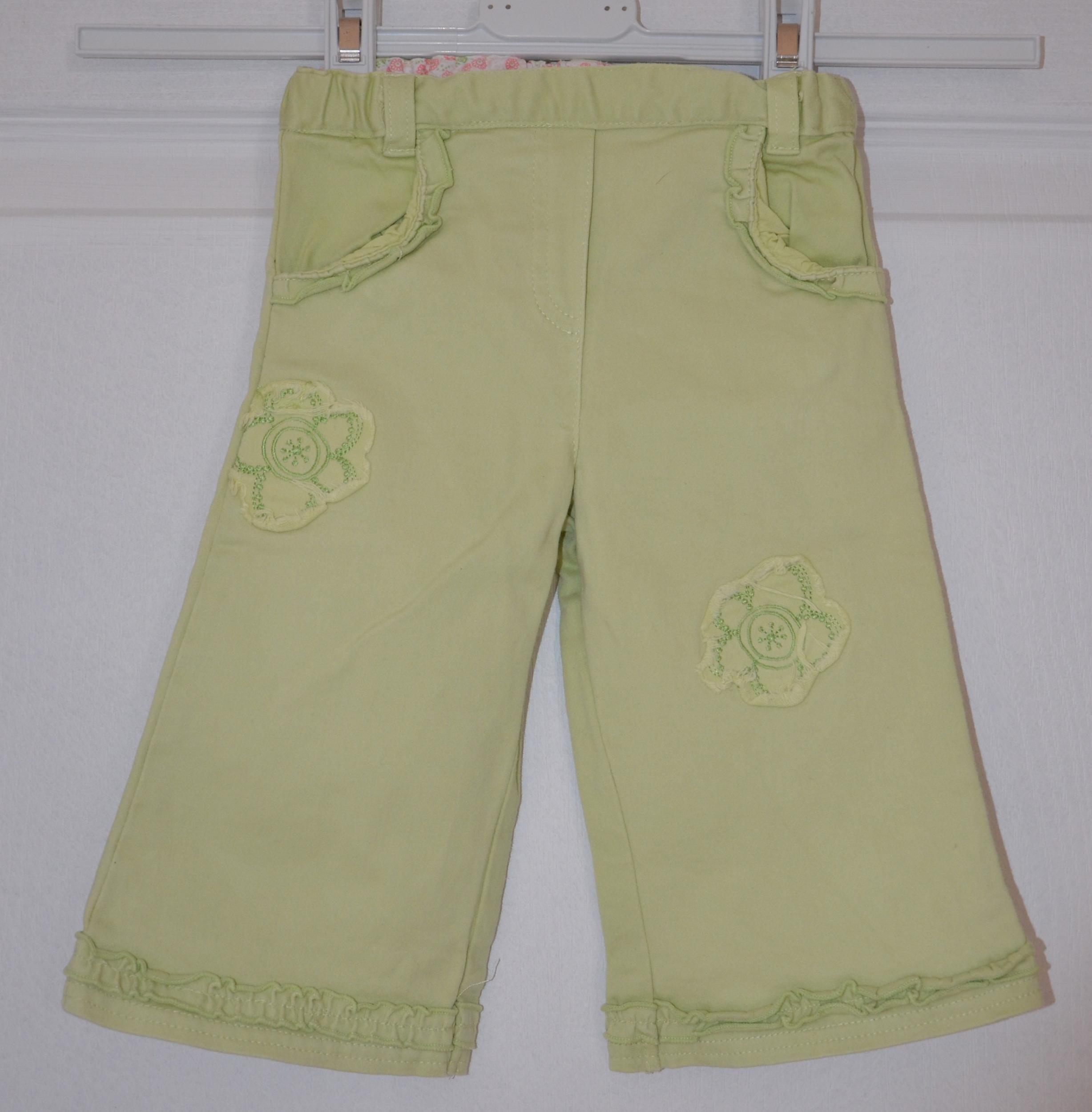 pantalon fille 6 mois tout compte fait vert