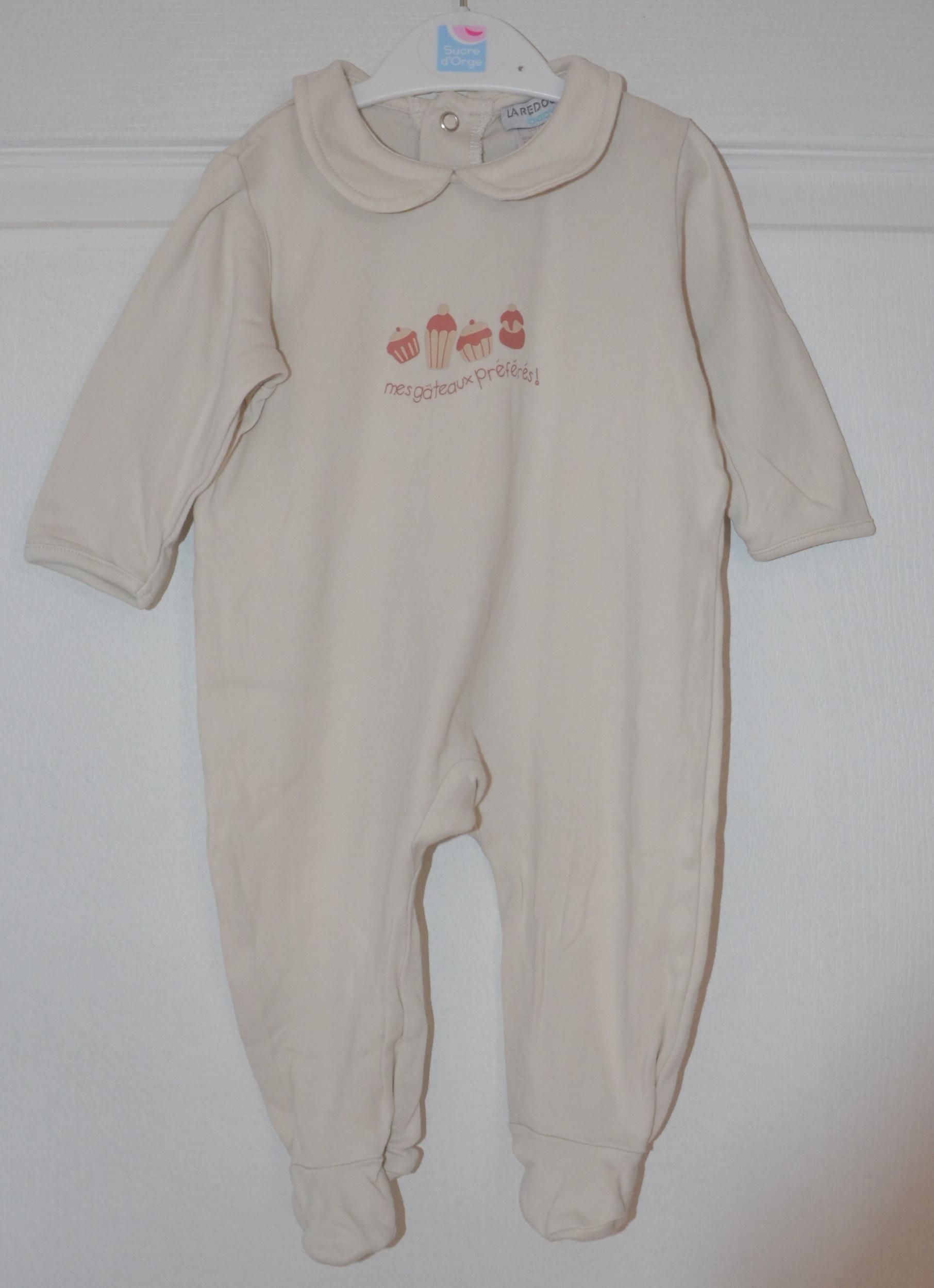 pyjama fille 6 mois la redoute ecru
