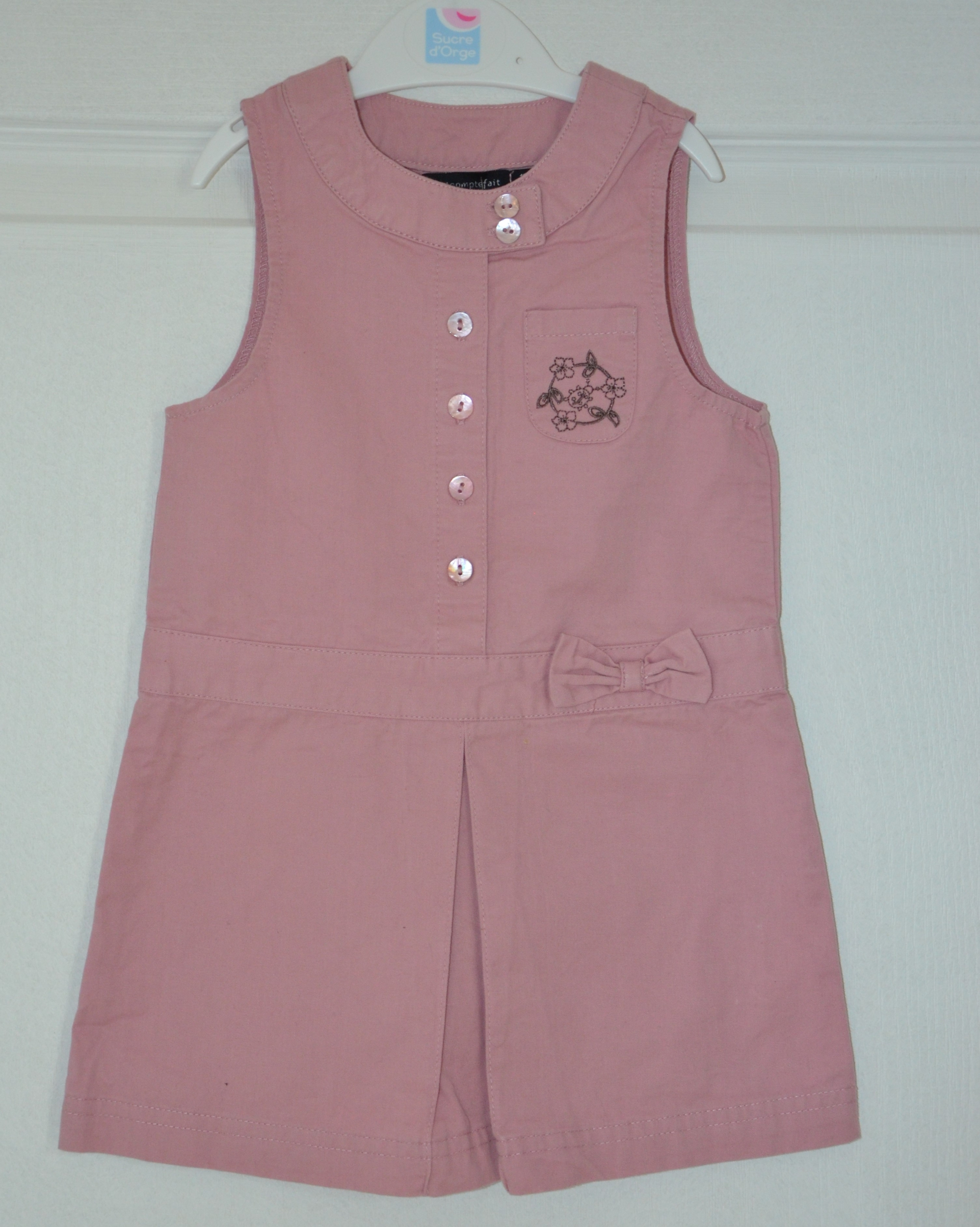 robe rose sans manches fille 12 mois tout compte fait