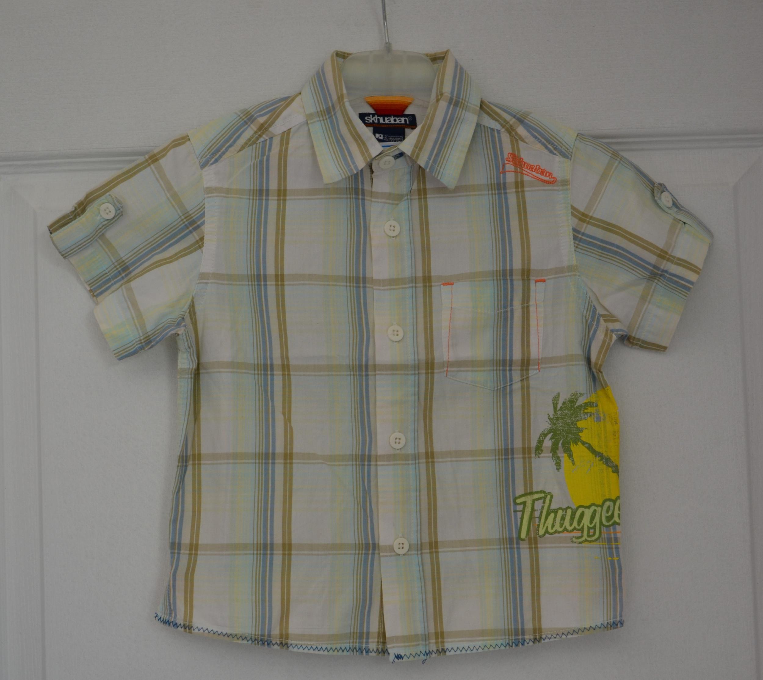 chemisette carreaux garçon 24 mois skhuaban