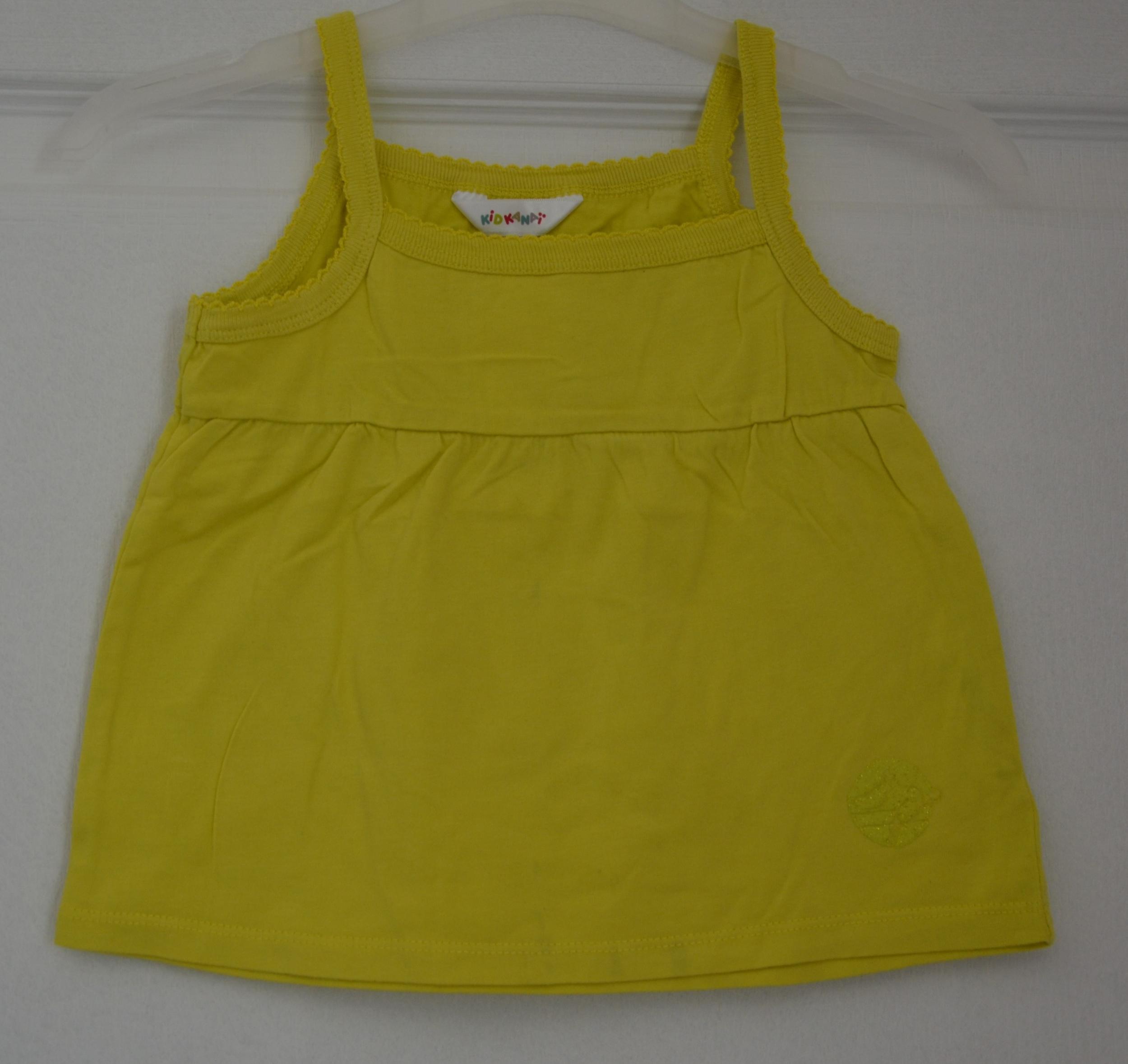 débardeur jaune fille 24 mois kidkanaï vetement bebe occasion