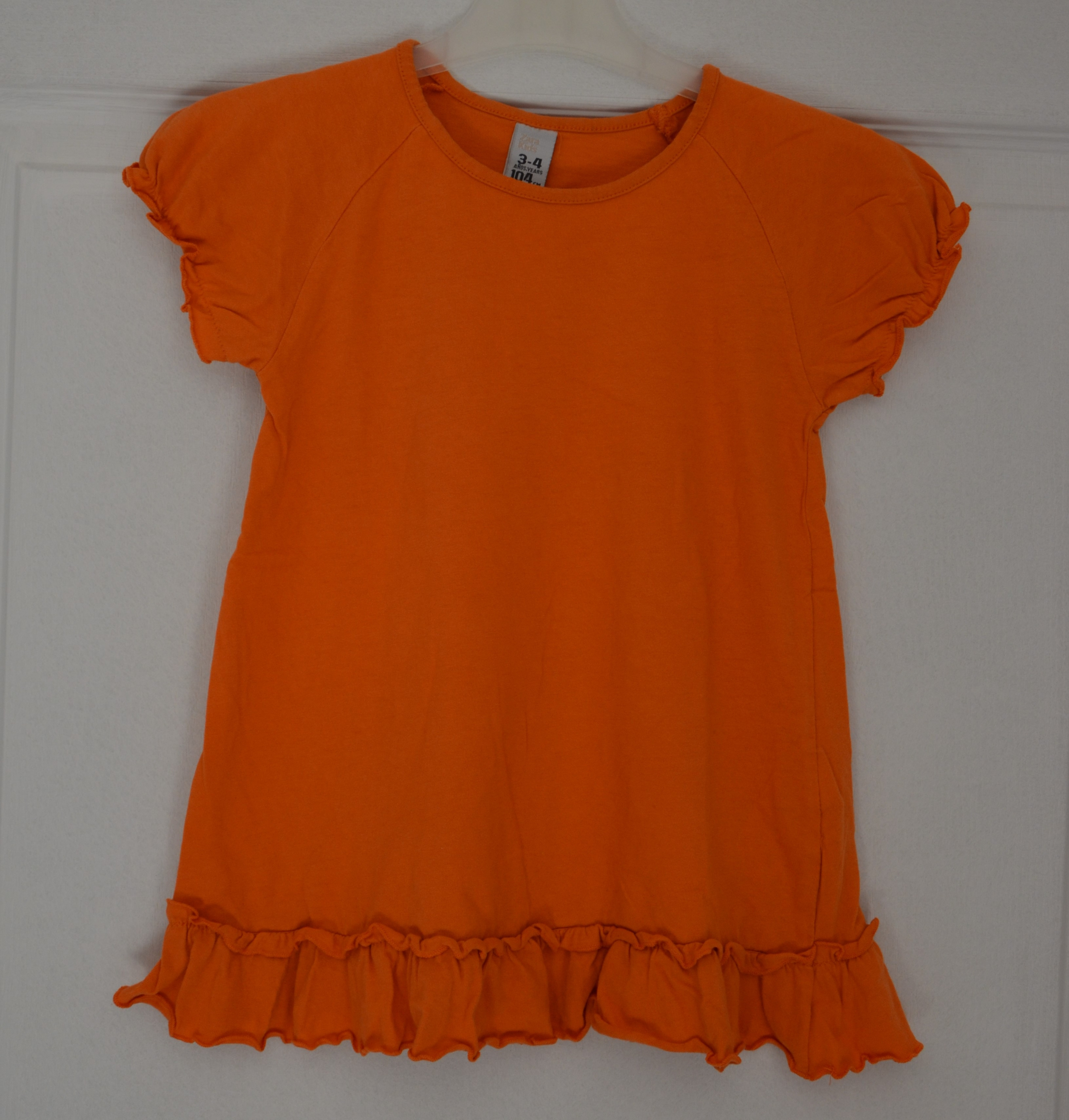 tee shirt fille 3-4 ans zara kids orange