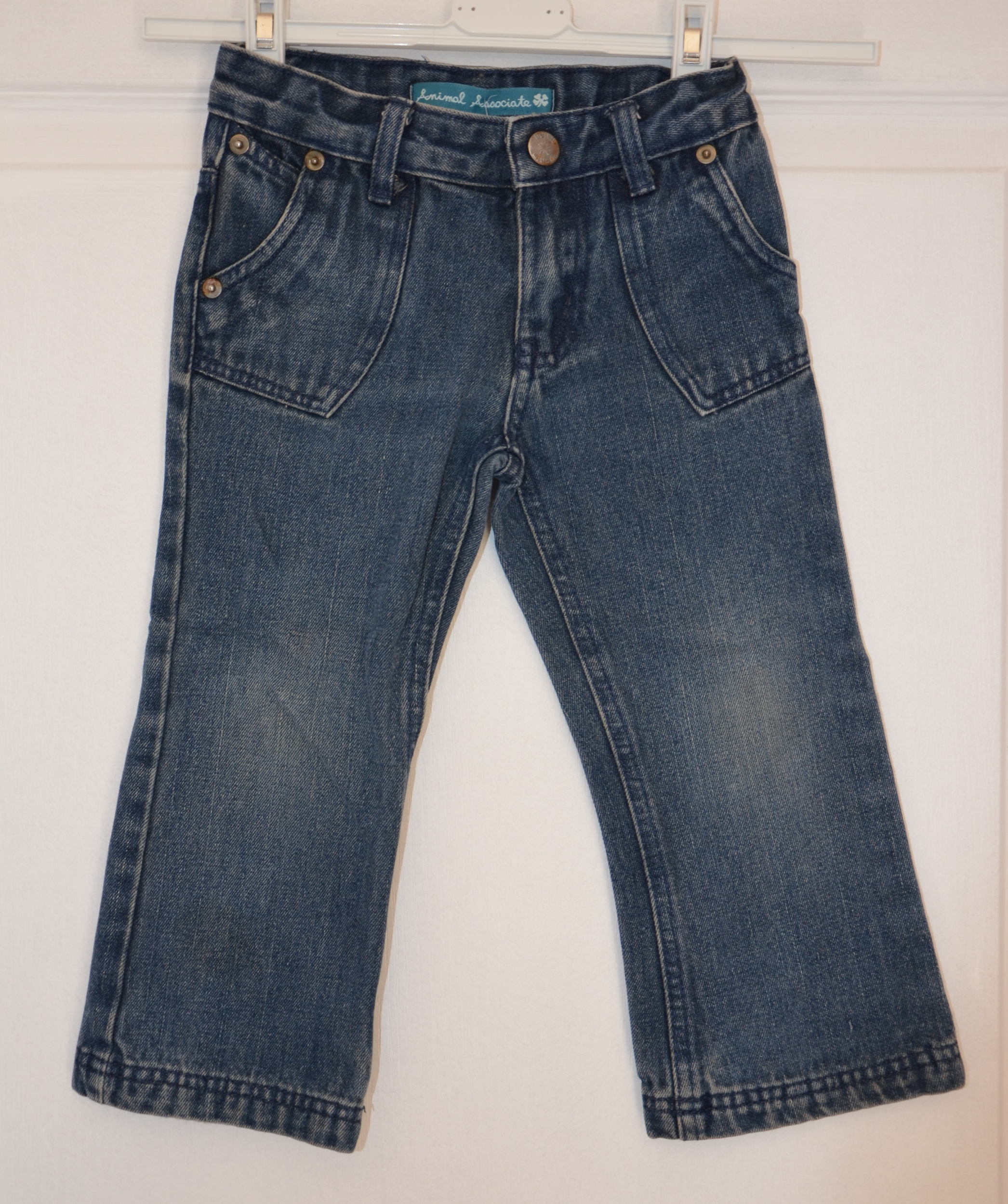 jean fille 3 ans animal associate bleu jean