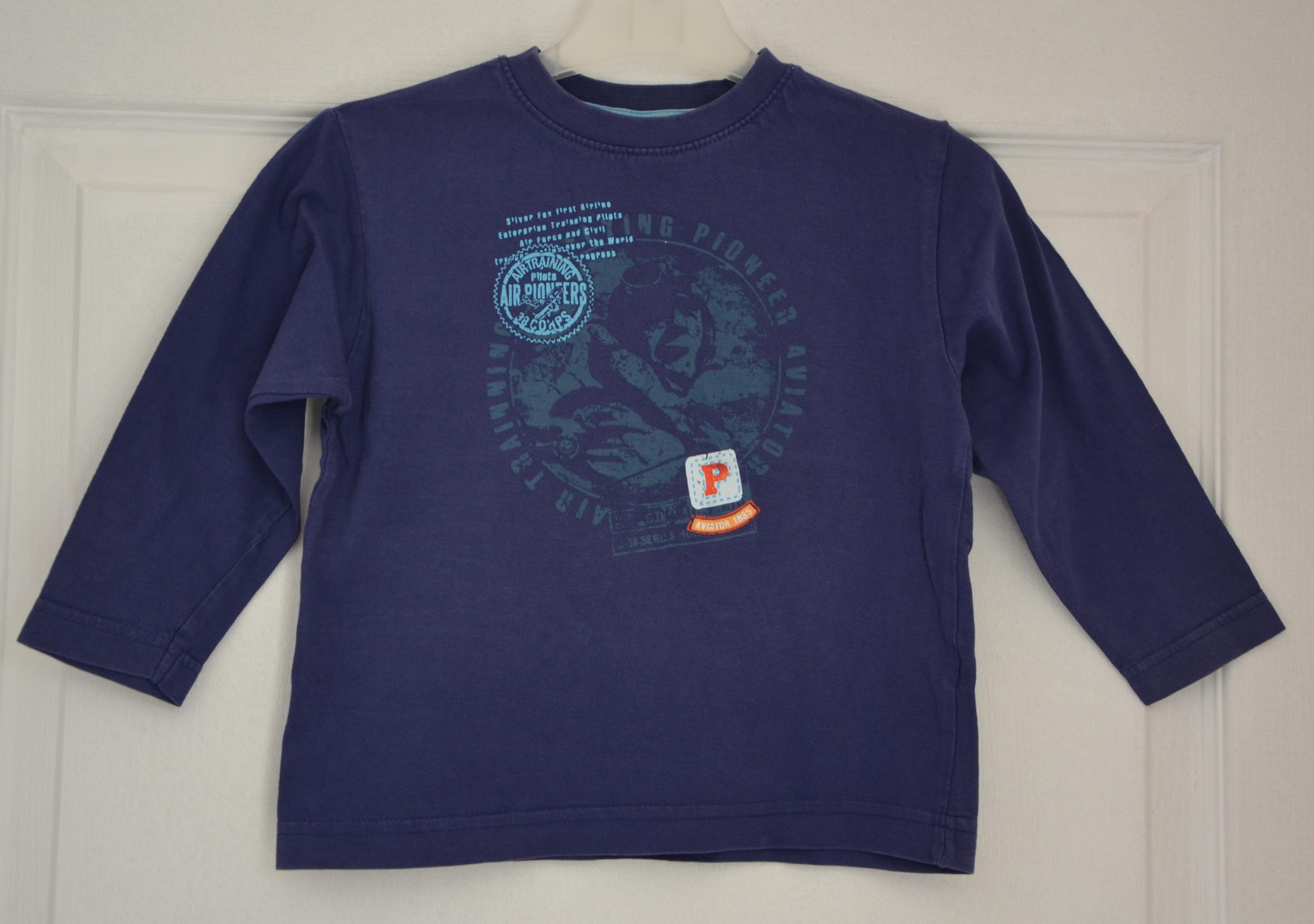 tee shirt gars 3 ans bleu aviator