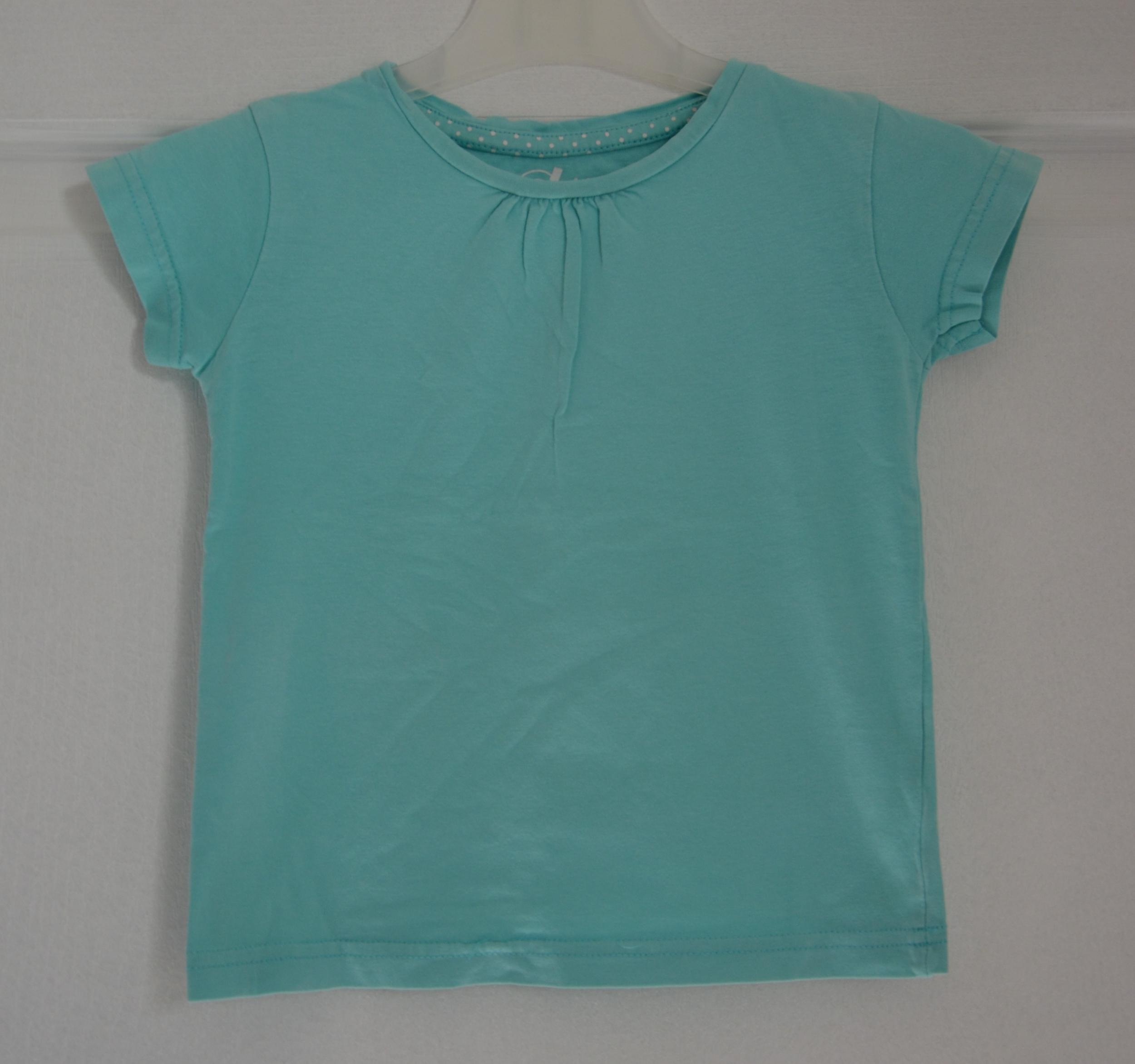 tee shirt turquoise fille 4 ans gémo