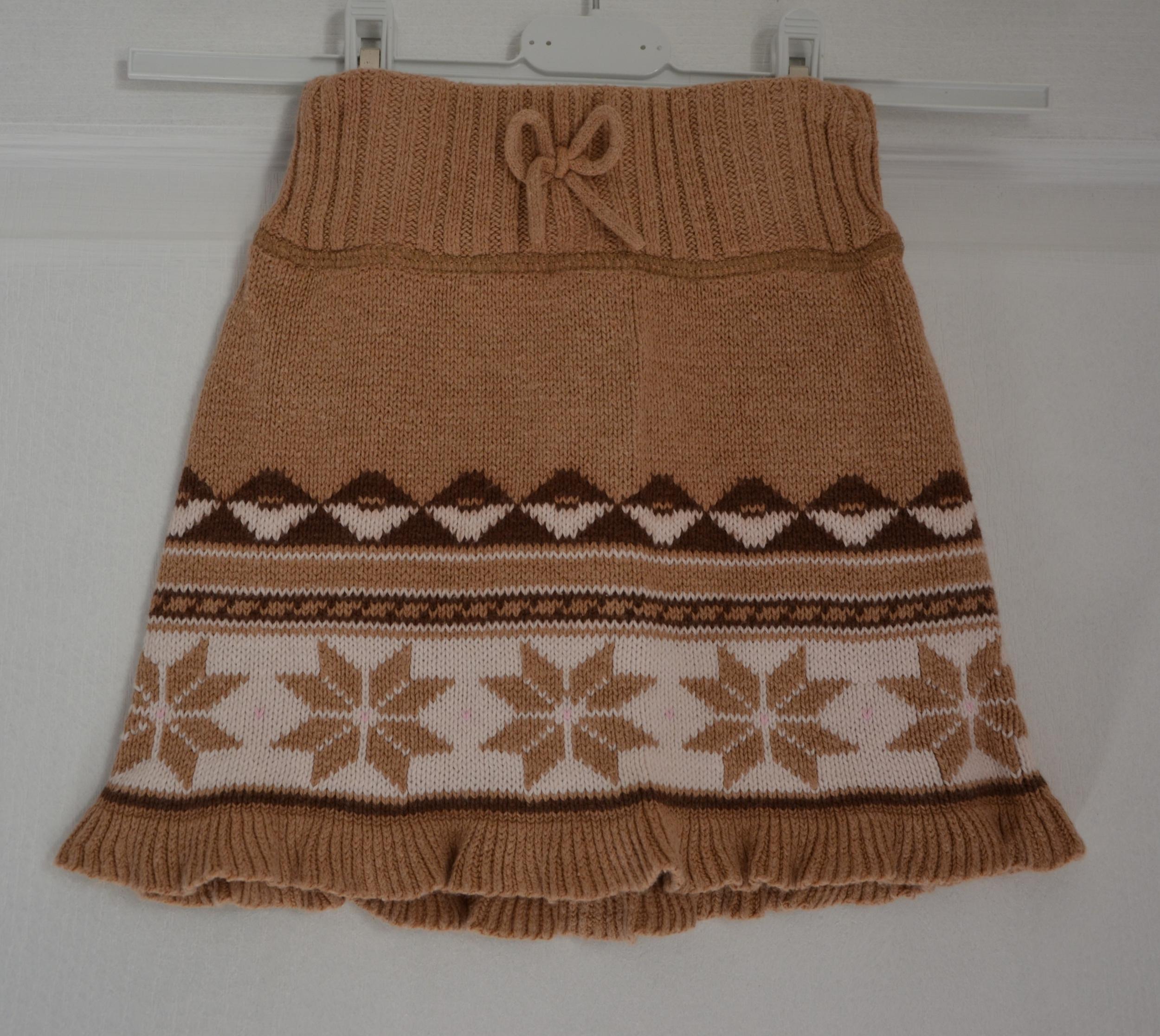 jupe laine beige fille 4 ans gap