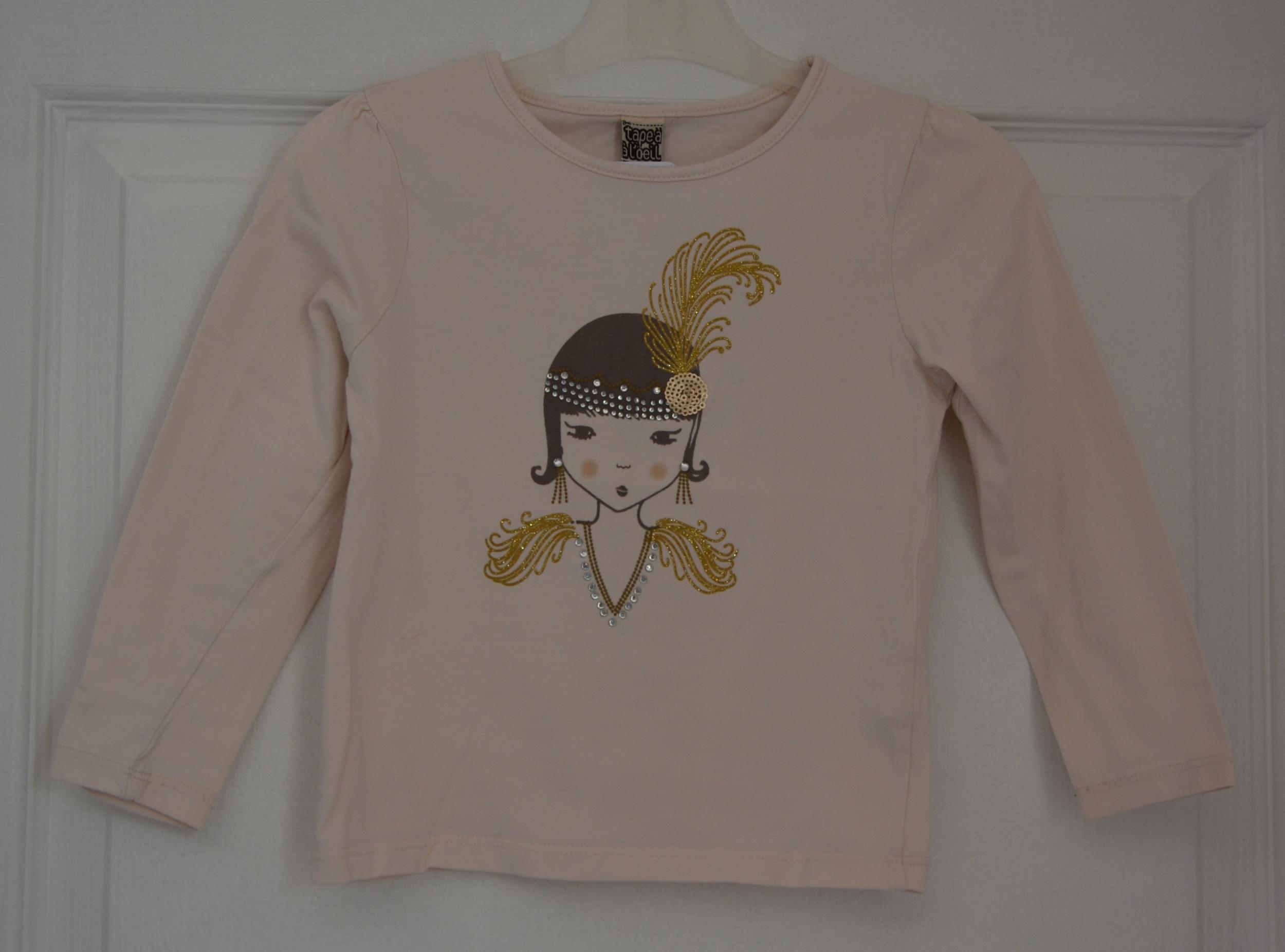 tee shirt rose fille 5 ans tape à l\'oeil