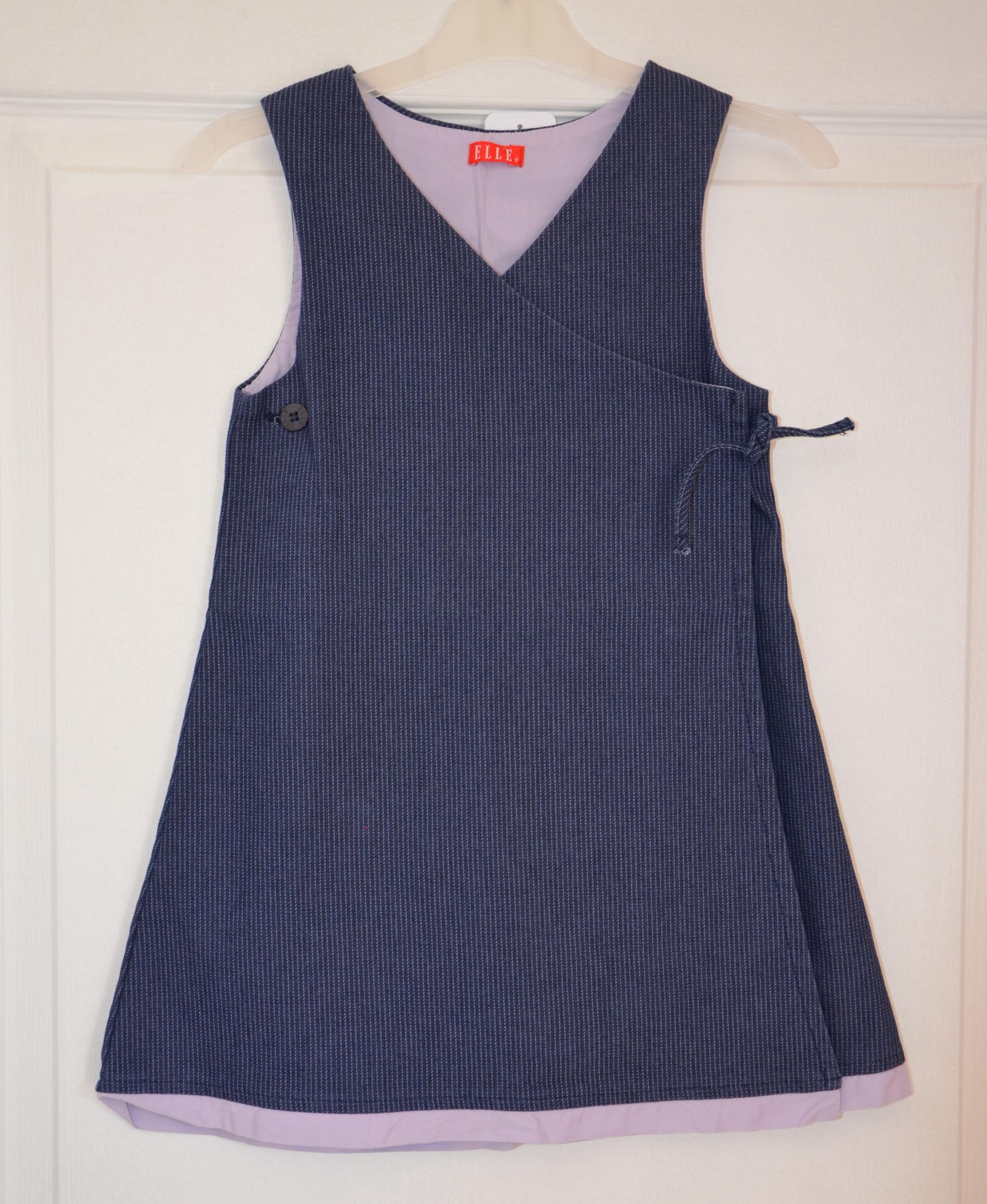 robe bleu sans manches fille 5 ans elle
