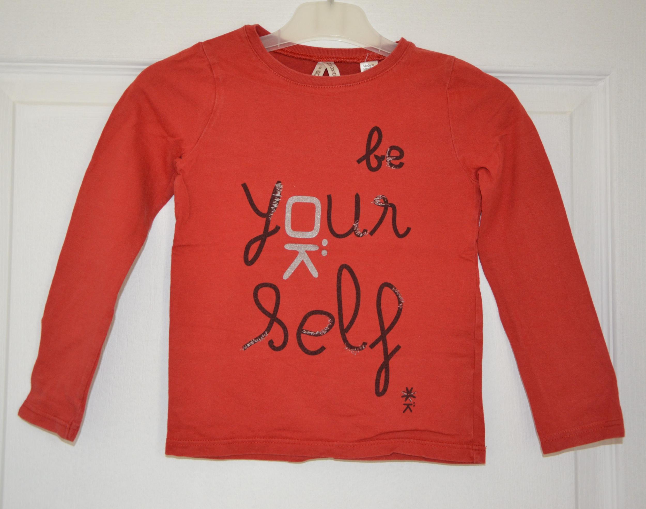 tee shirt rouge manches longues fille 6 ans okaïdi