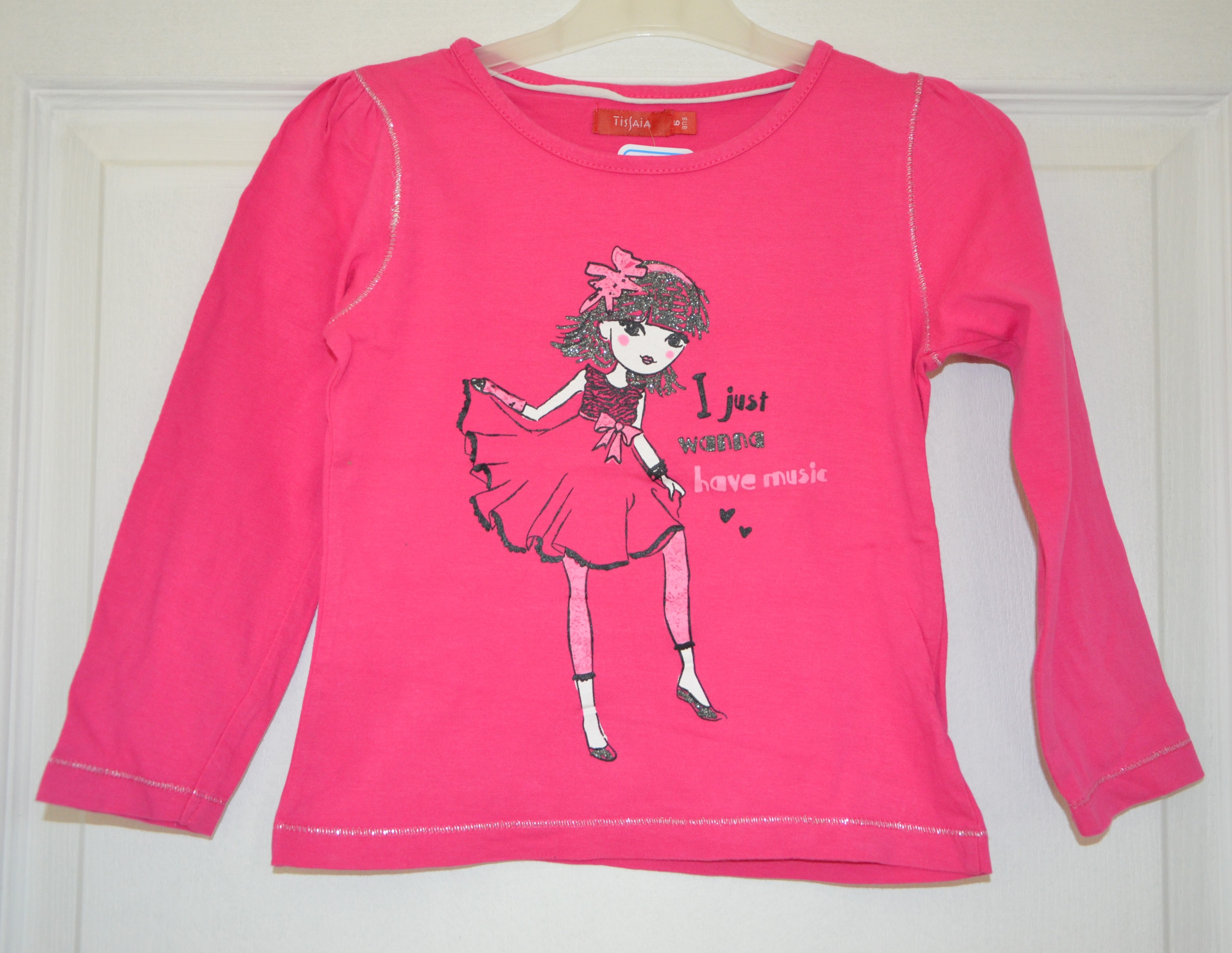 tee shirt rose manches longues fille 6 ans tissaia