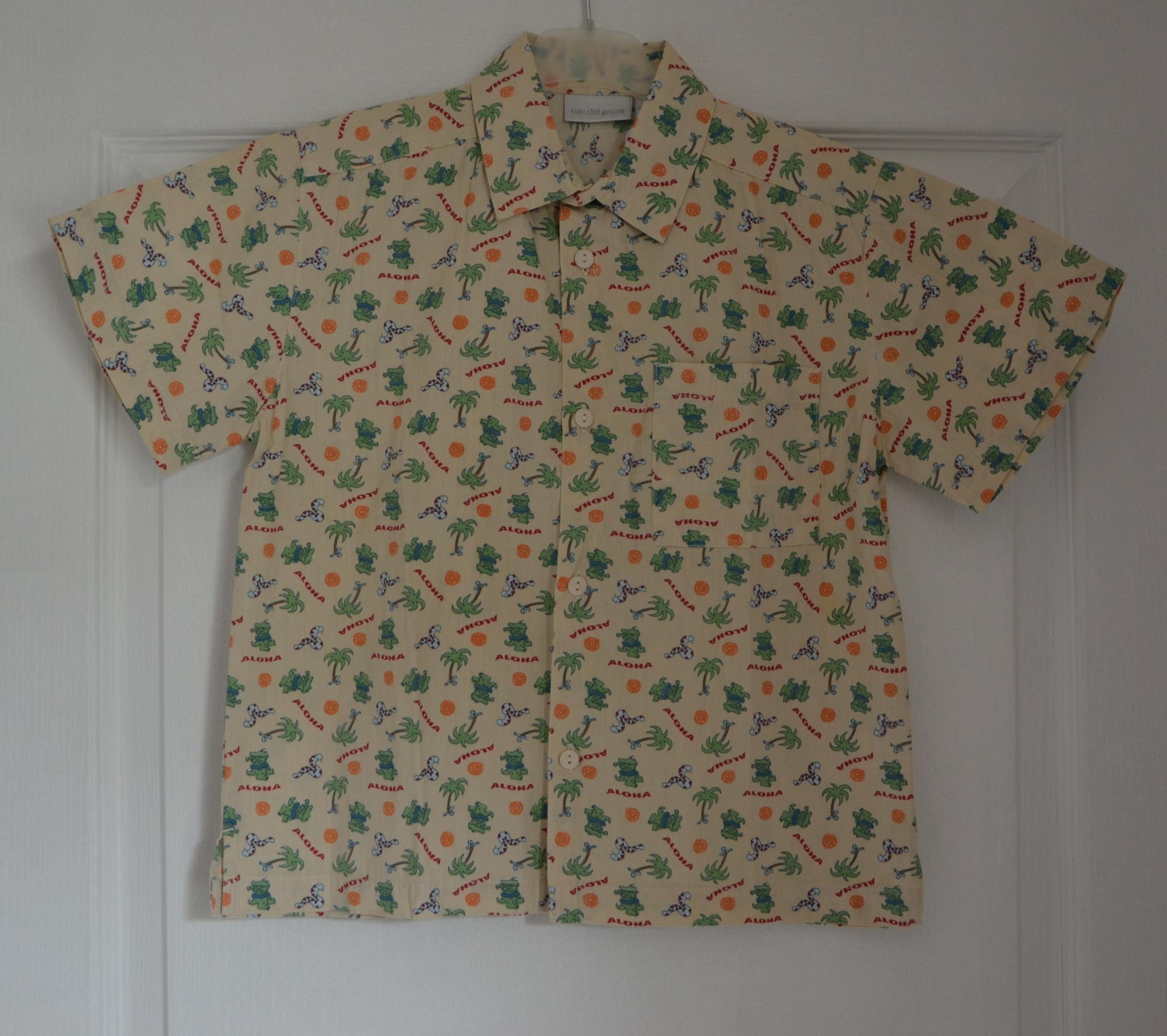 chemisette beige garçon 8 ans kiabi