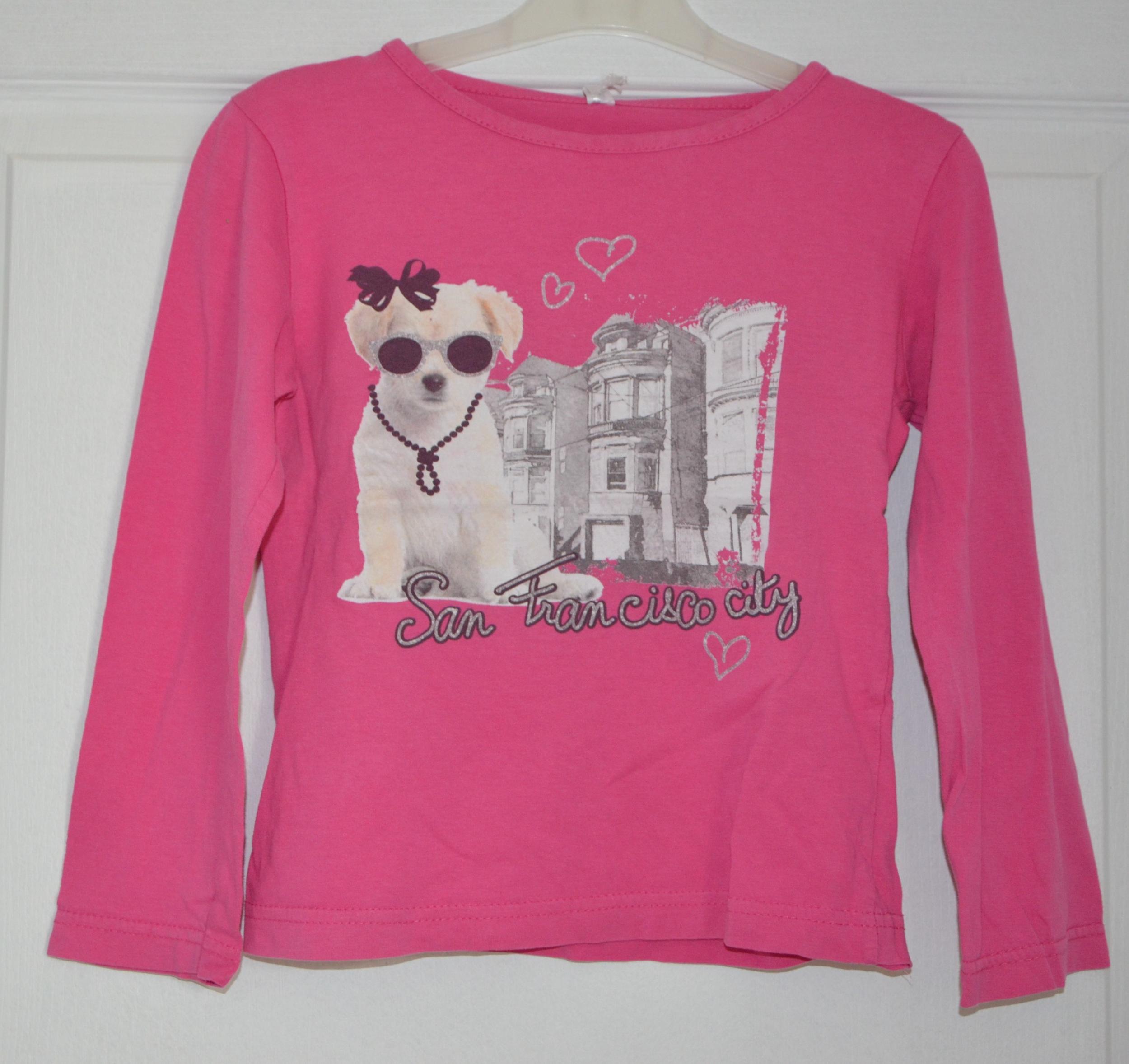 tee shirt rose manches longues fille 8 ans sans marque