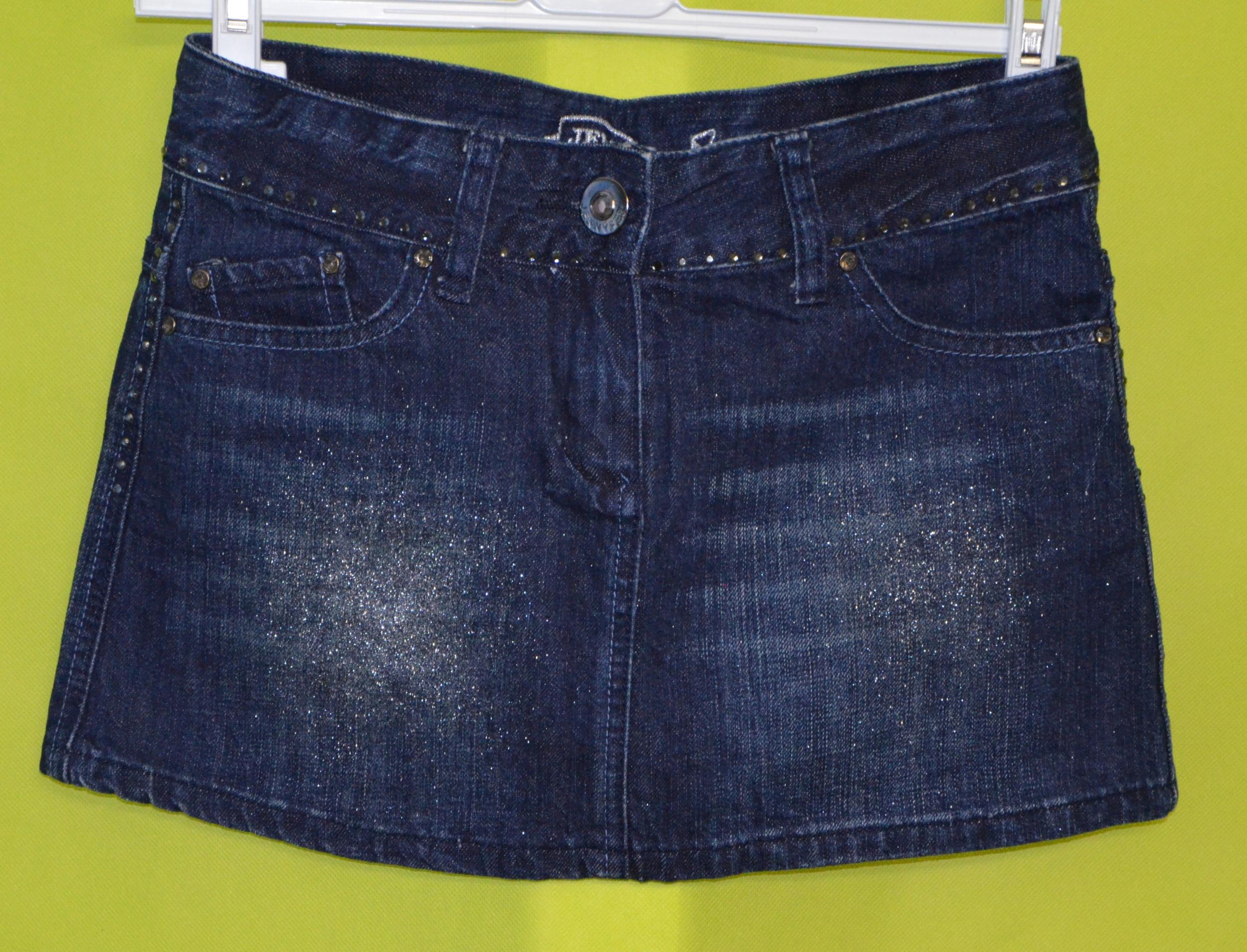 jupe jean bleu pailleté femme taille 36 jennyfer