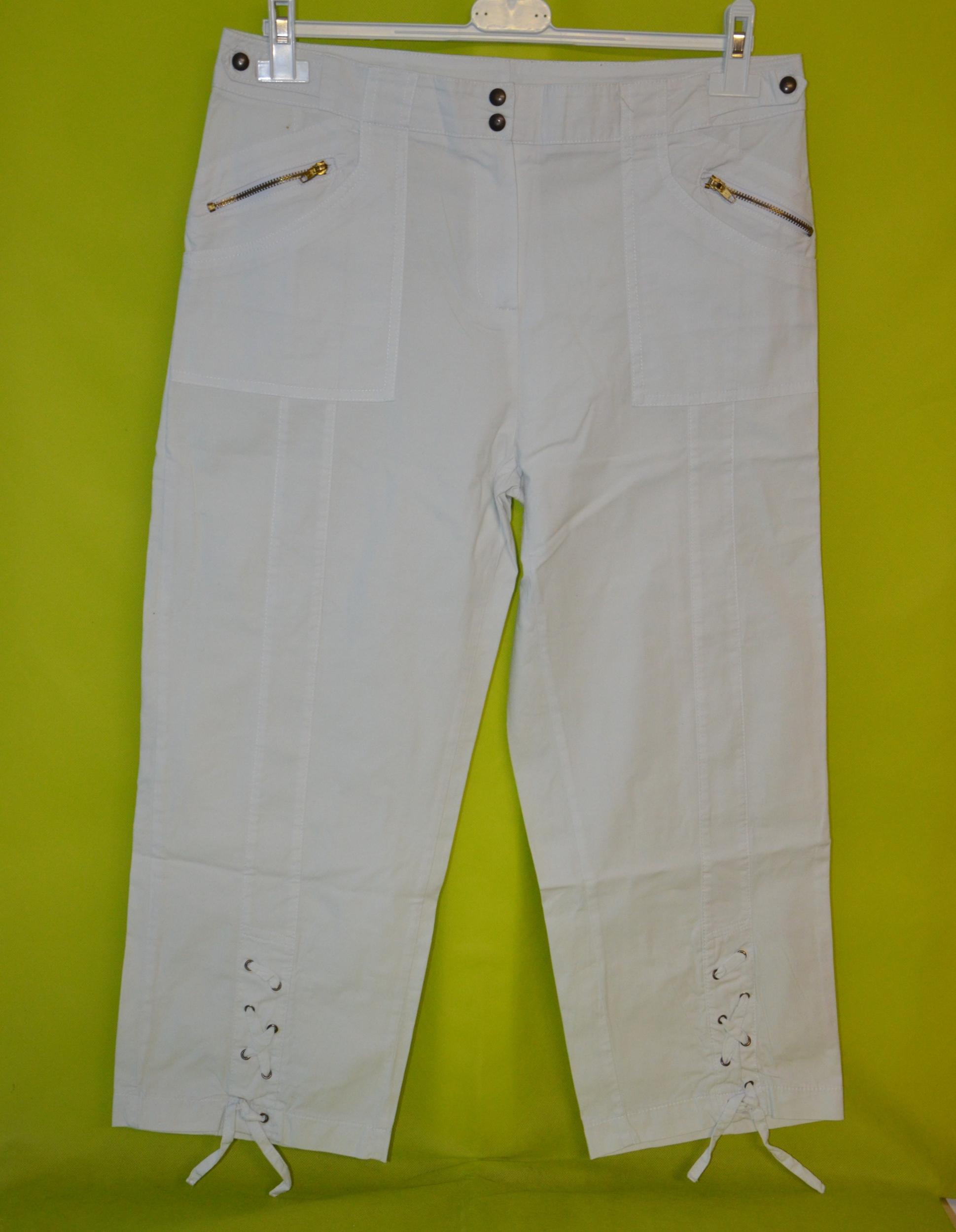 pantacourt blanc femme taille 38 sans marque
