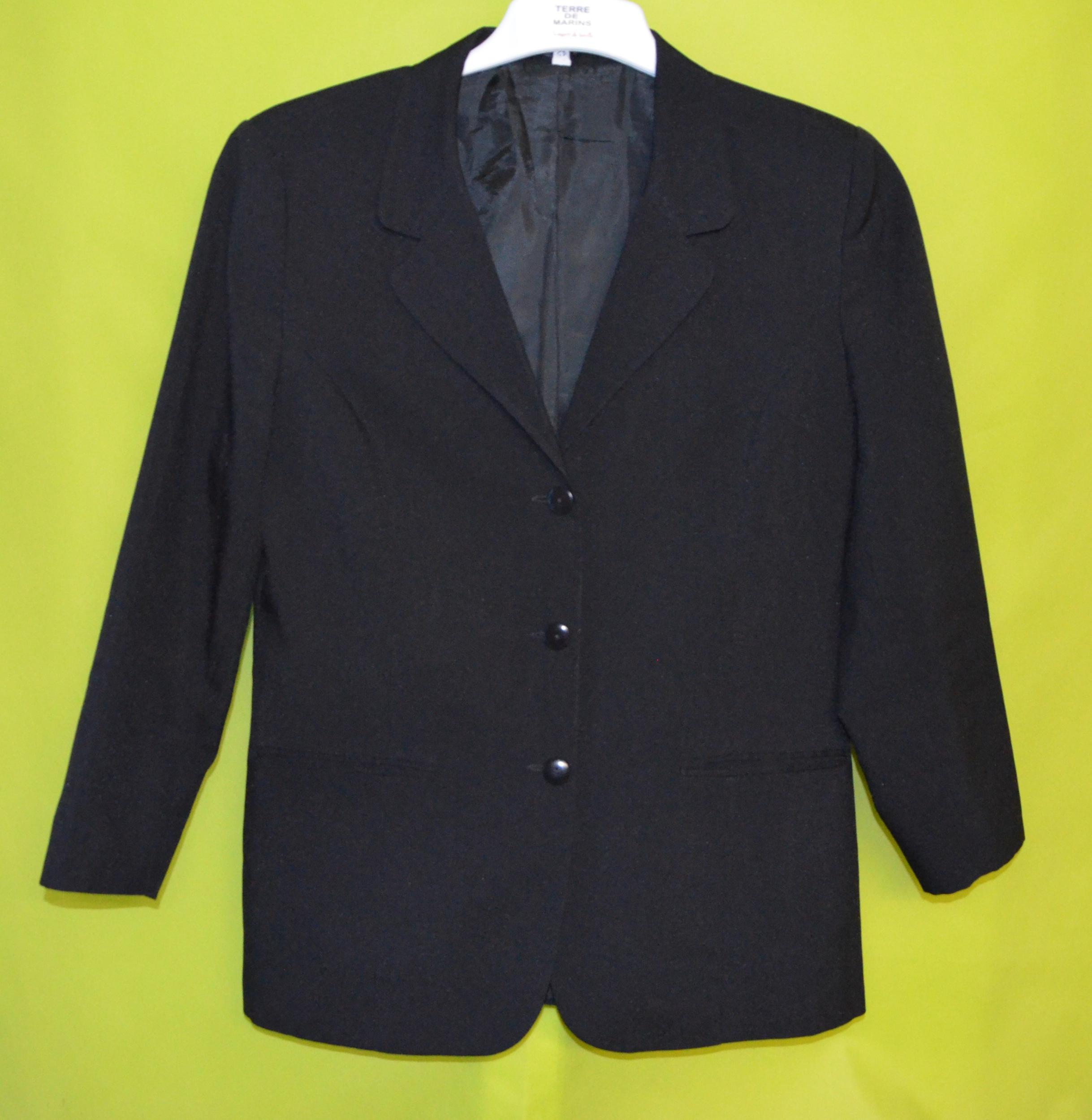 Friperie en ligne femme veste 42 noir robur vetement occasion femme