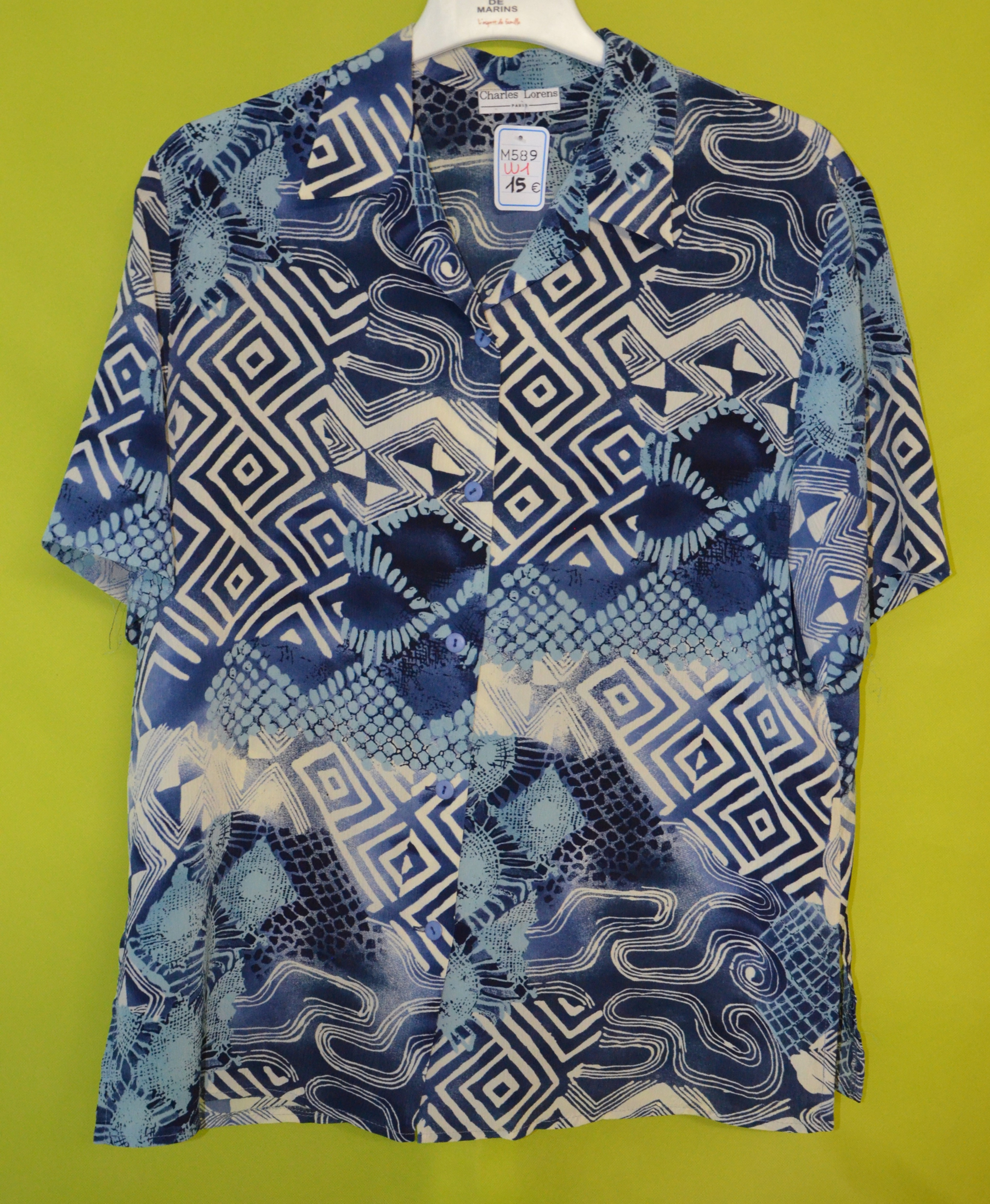 chemise femme 50 charles lorens bleu