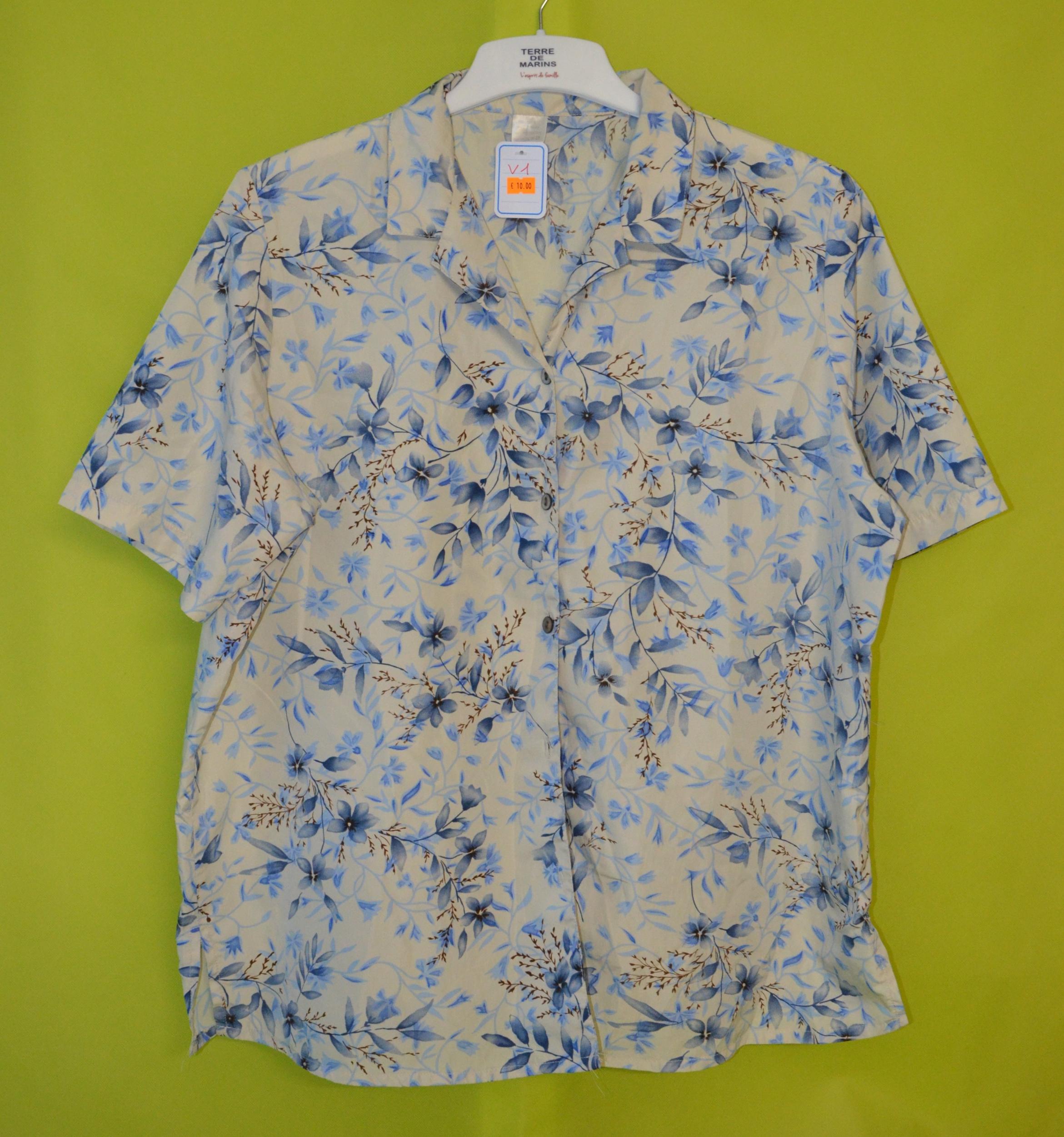 chemise femme 48 fleurs