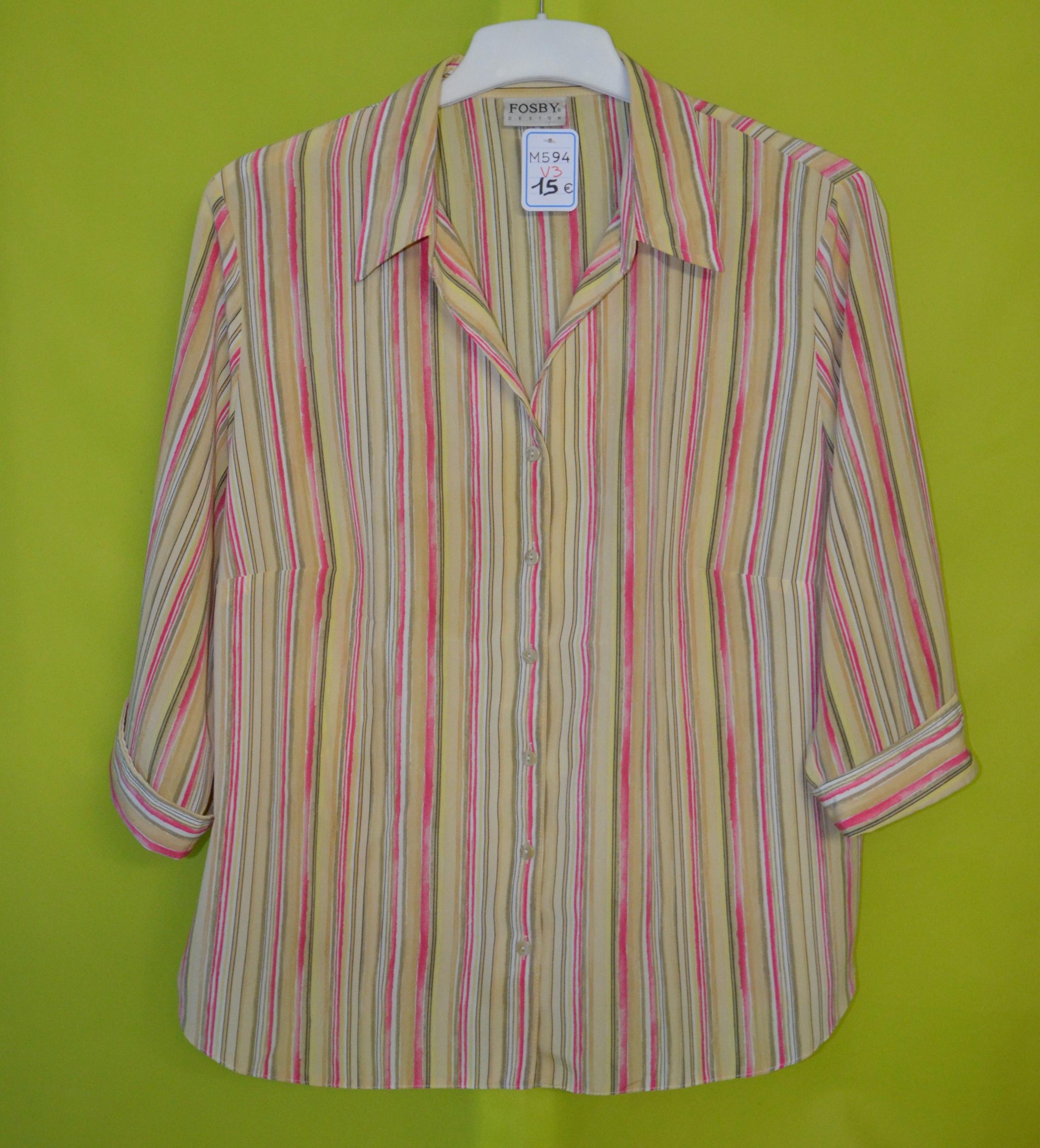 chemise femme 48 fosby design rayé