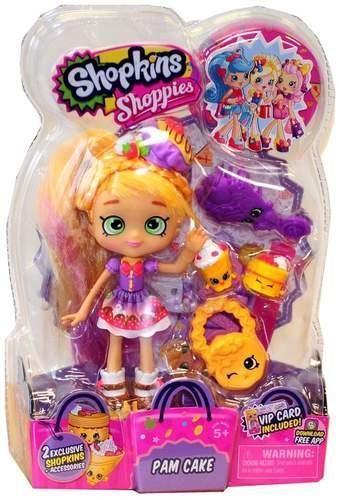 Shopkins poupee shopkins pam cake shoppie avec 2 mascottes
