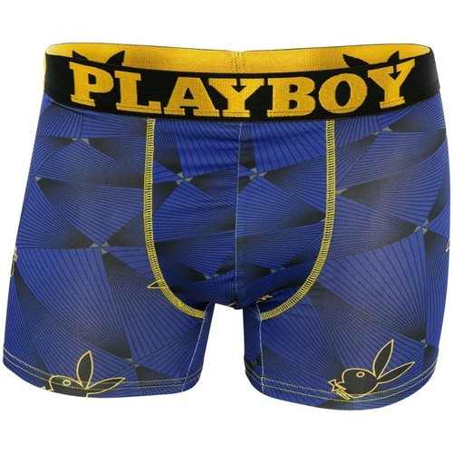 Boxer long multicolore en polyester stretch trendy imprimé laser playboy