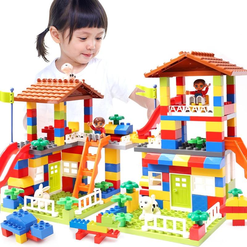blocs de construction type lego grande taille maison 89 pièces KAZI