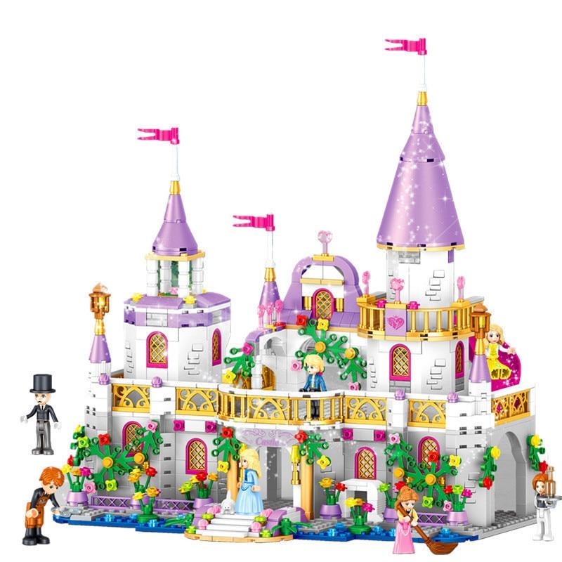 blocs de construction type lego chateau de princesse 731 pièces zebra
