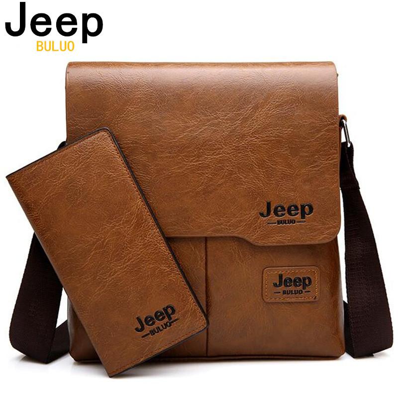 sacoche homme bandoulière sac jeep buluo noir ou marron