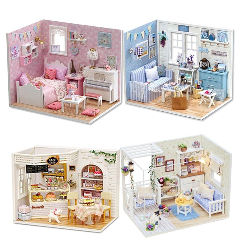 maison de poupée miniature a fabriquer cutebee h012 divers modèles