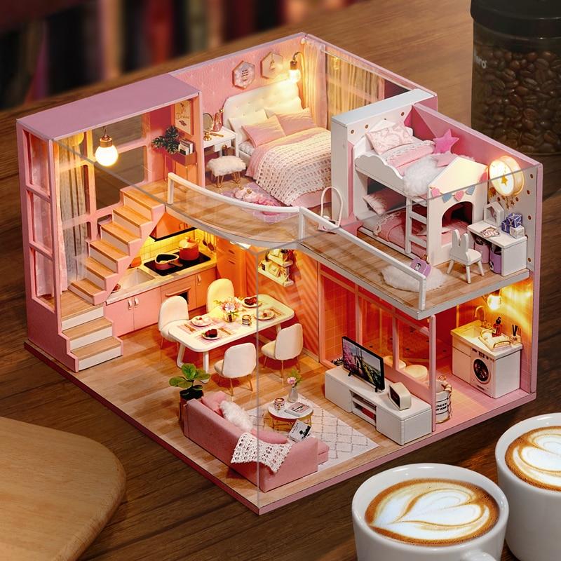 maison de poupée miniature a fabriquer cutebee l026 divers modèles