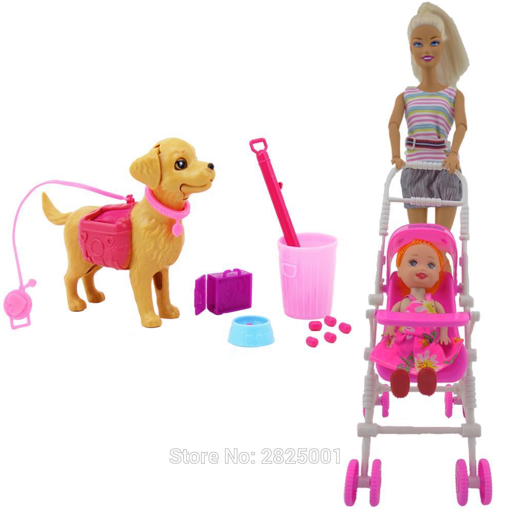 lot poussette et chien pour barbie bjdbus