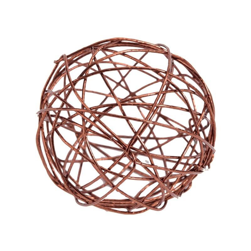 Petites Boules Métal - 12 Unités - 3 cm - marron
