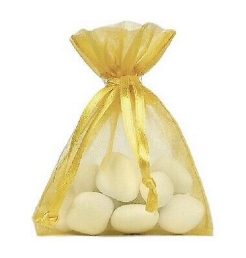 10 sachets Organdi unicolores - jaune