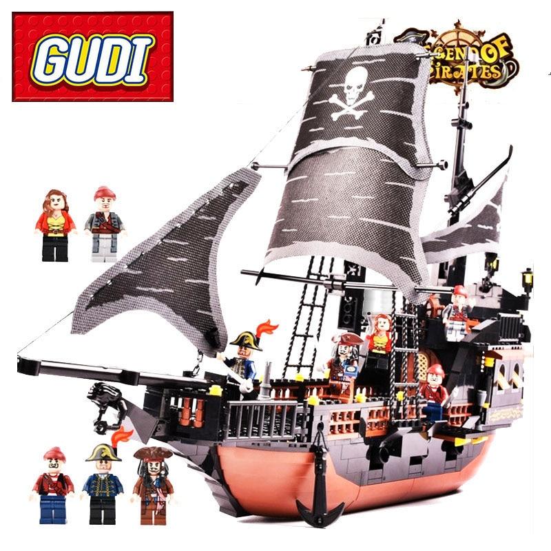blocs de construction bateau pirate aiboully 4 modeles au choix