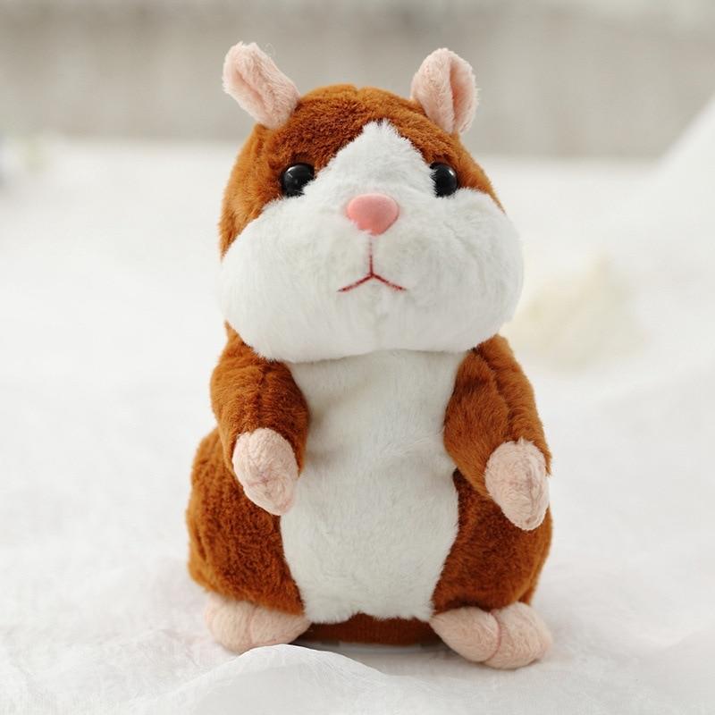 Peluche hamster parlante 15 cm Feromey