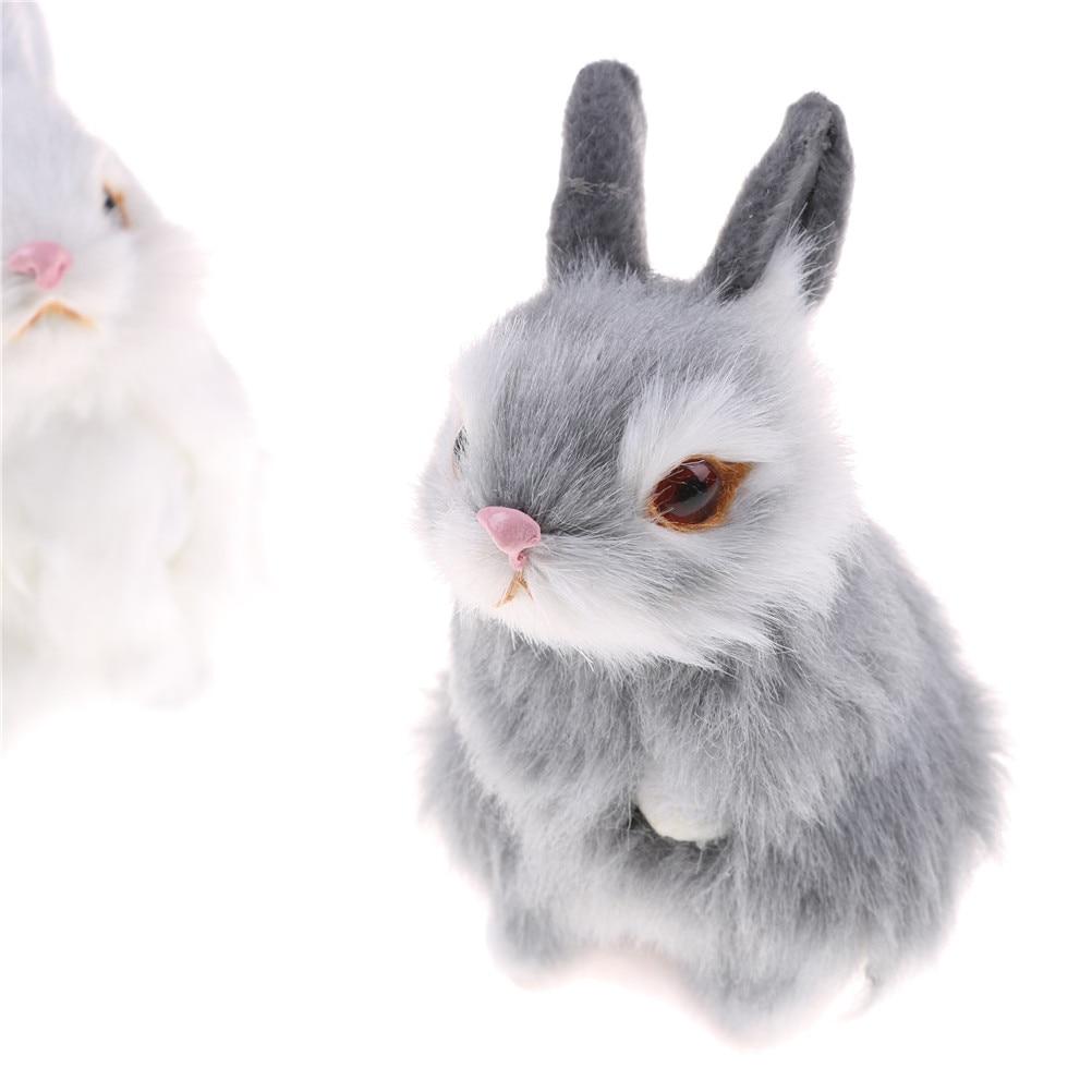 Peluche lapin 11 cm blanc ou gris Minifrut