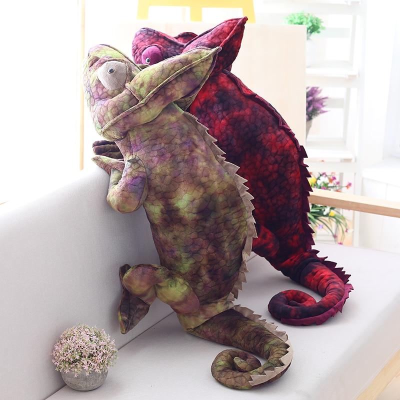 peluche caméléon 70-100 cm divers coloris et tailles