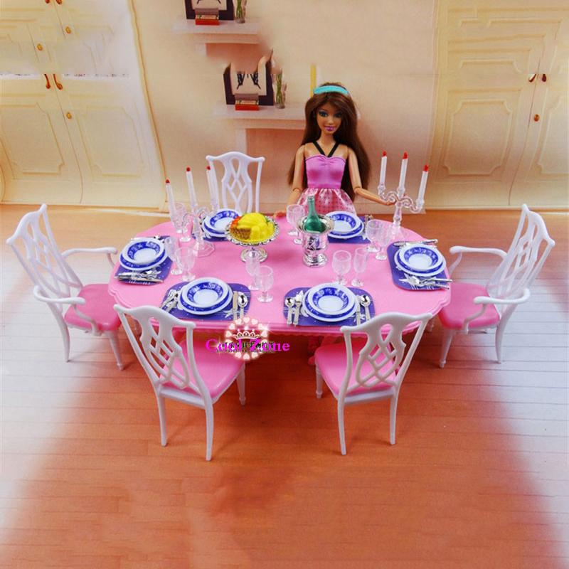 salle à manger pour barbie
