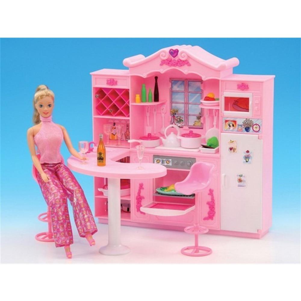 cuisine rose pour barbie